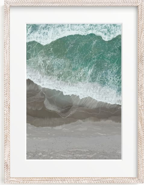 This is a blue art by Melanie Sutherland called The Shoreline.