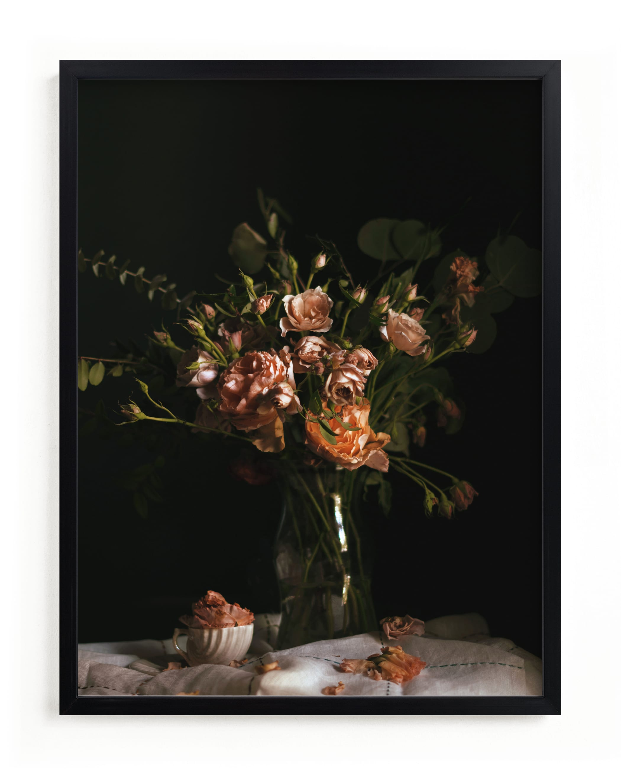 """""""Moody Floral Still Life"""" - Limited Edition Art Print by Katie Buckman in beautiful frame options and a variety of sizes."""