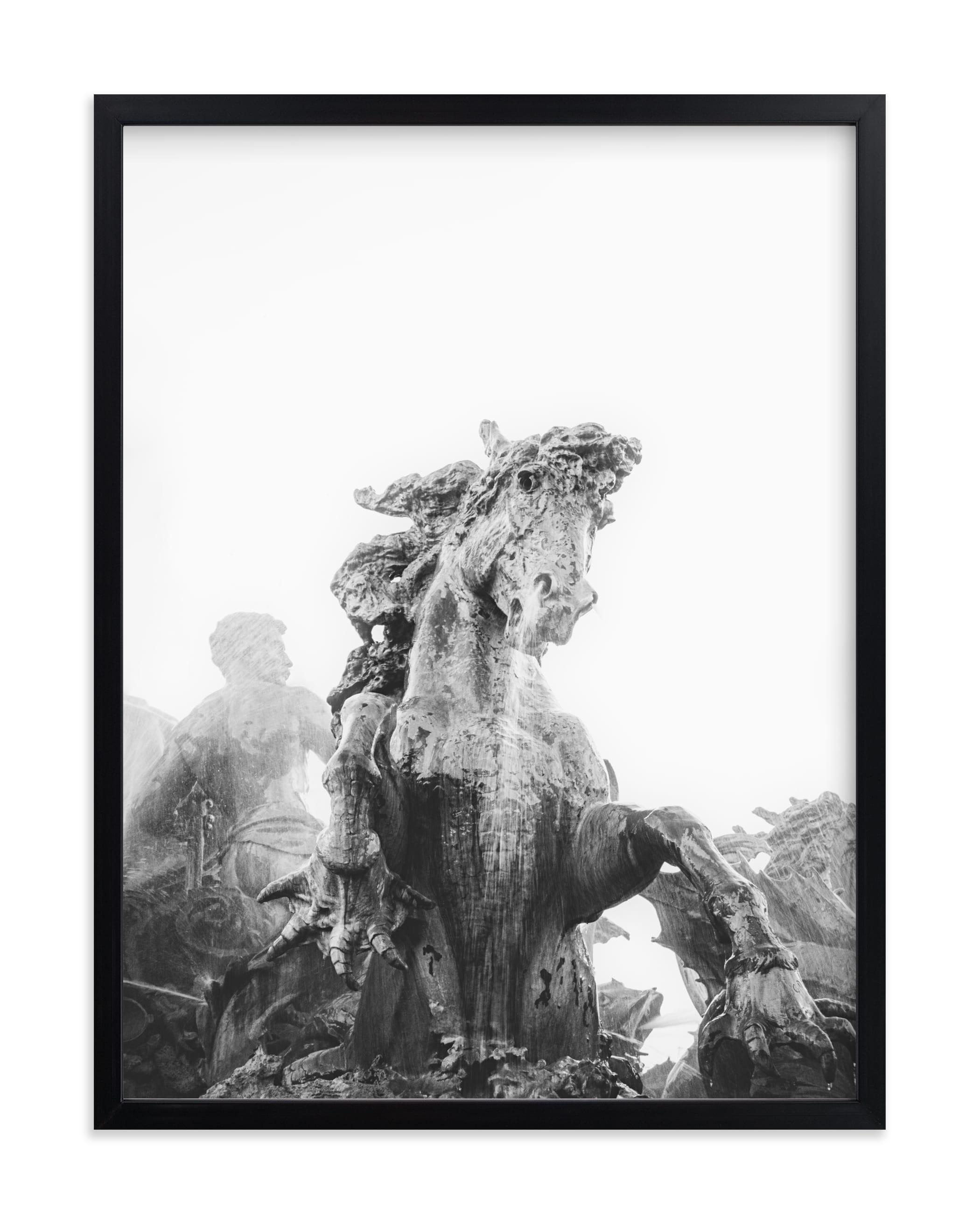 Fantastical creature, fountain Wall Art Print