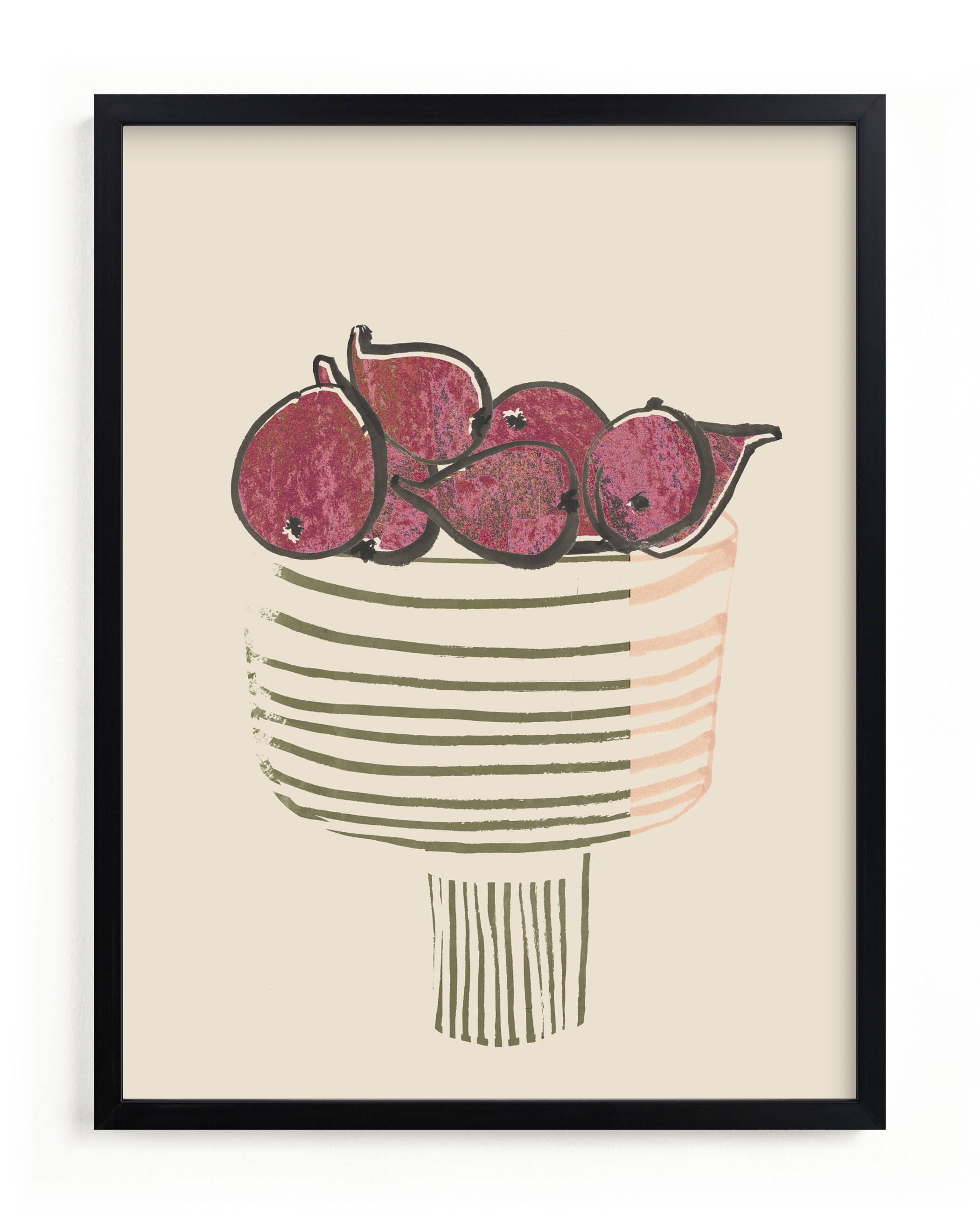"""""""Bowl of figs"""" - Limited Edition Art Print by Bethania Lima in beautiful frame options and a variety of sizes."""