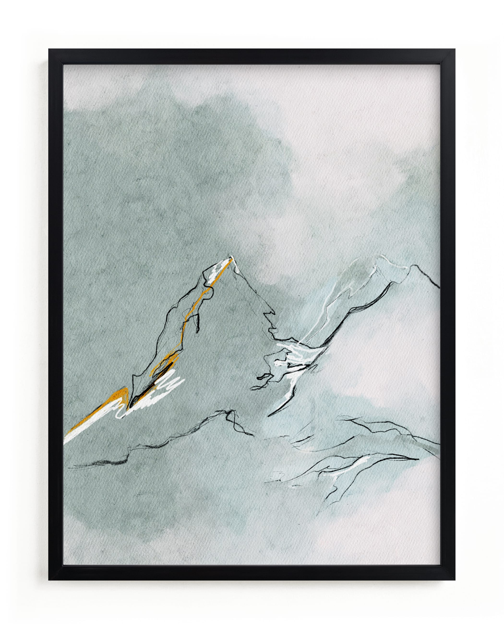 """""""Cloud Mountains"""" - Limited Edition Art Print by Shraddha Dharia in beautiful frame options and a variety of sizes."""