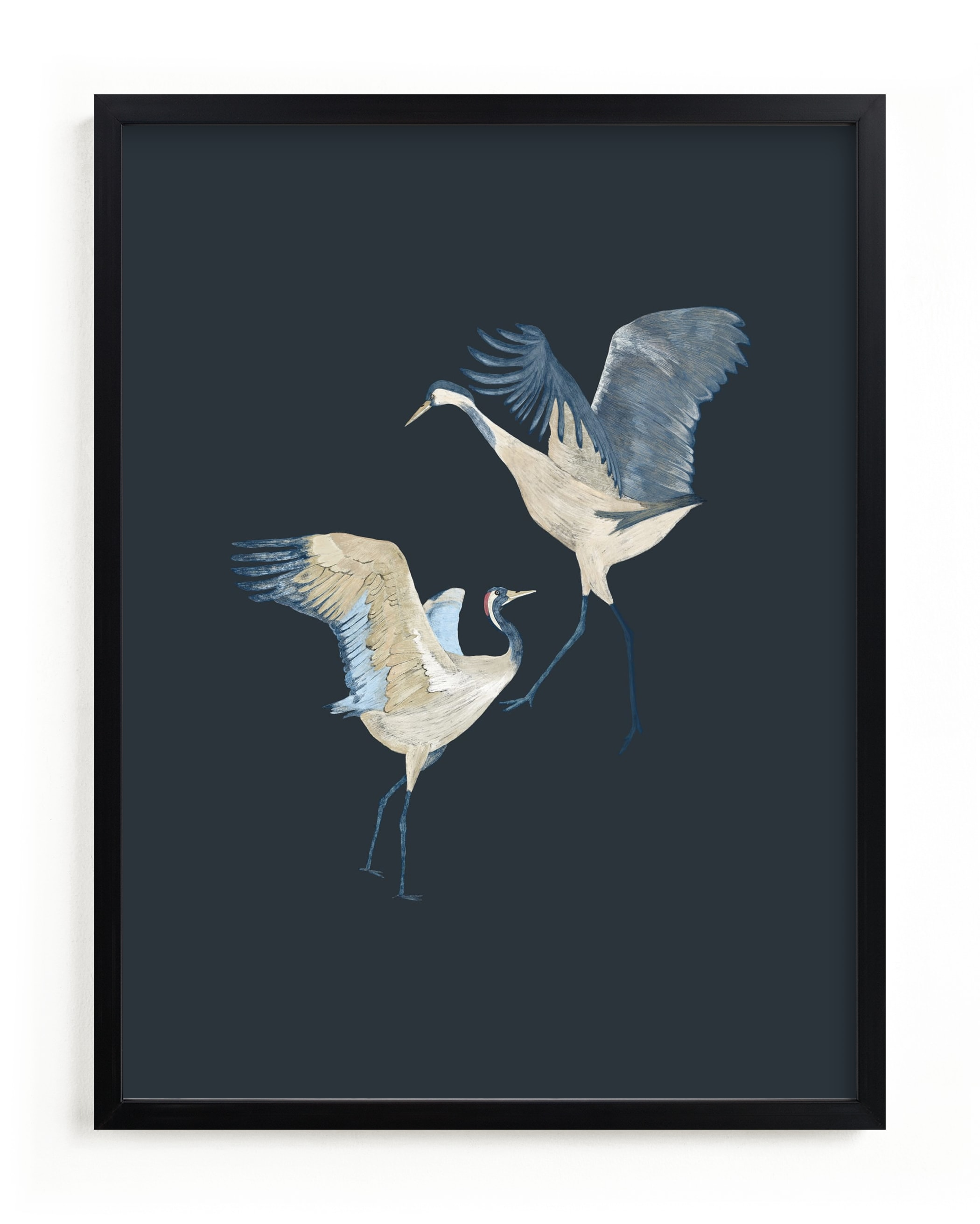 """""""Crane dance"""" - Limited Edition Art Print by Nina Leth in beautiful frame options and a variety of sizes."""