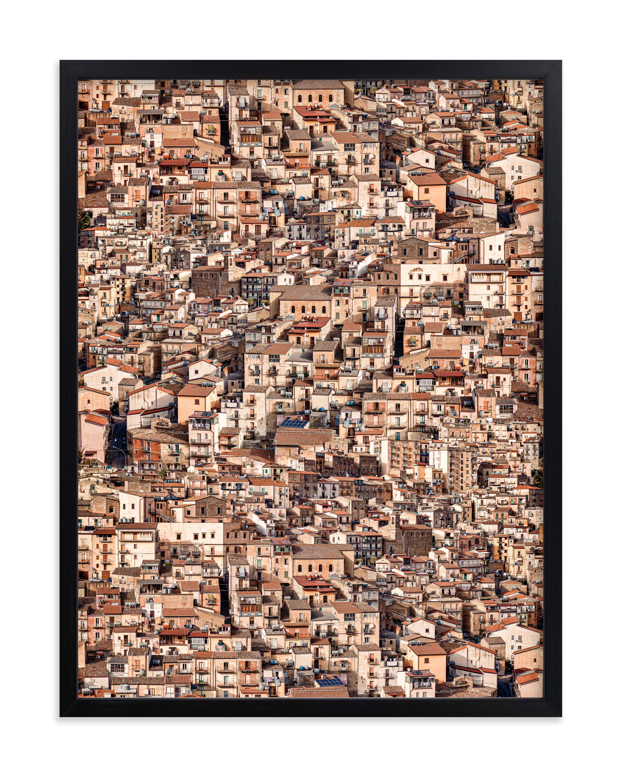 """""""Little Town"""" - Limited Edition Art Print by David Michuki in beautiful frame options and a variety of sizes."""