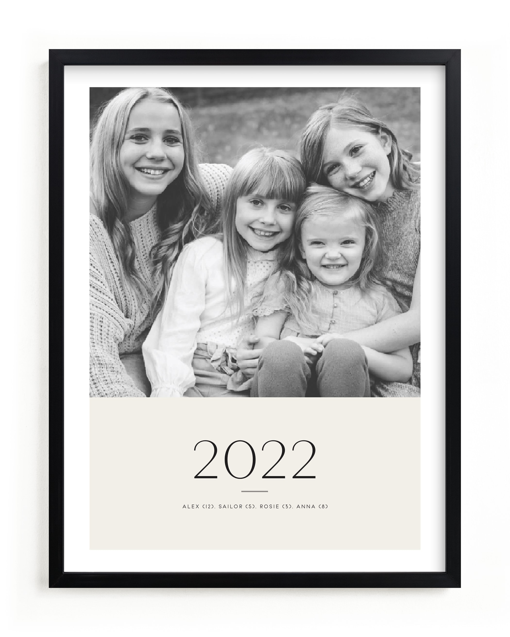 Yearly Portrait Custom Photo Art Print