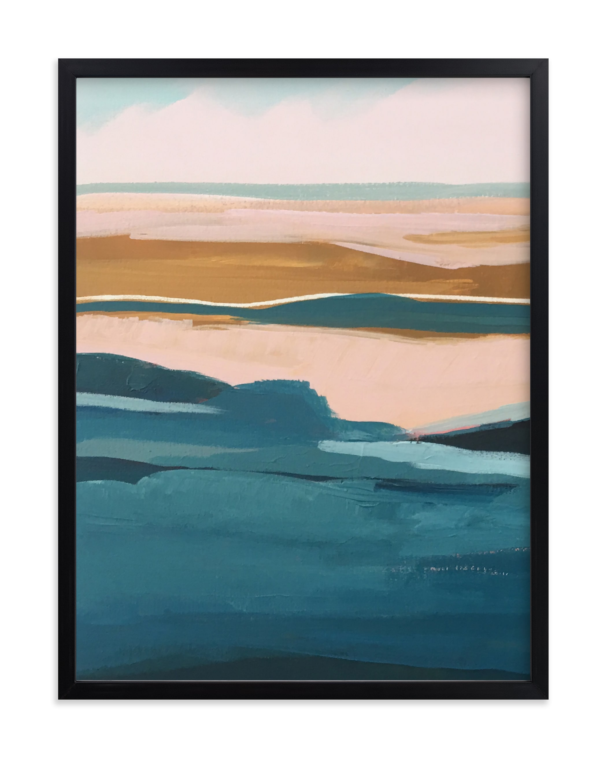 """Golden Seascape Diptych I"" - Limited Edition Art Print by Caryn Owen in beautiful frame options and a variety of sizes."