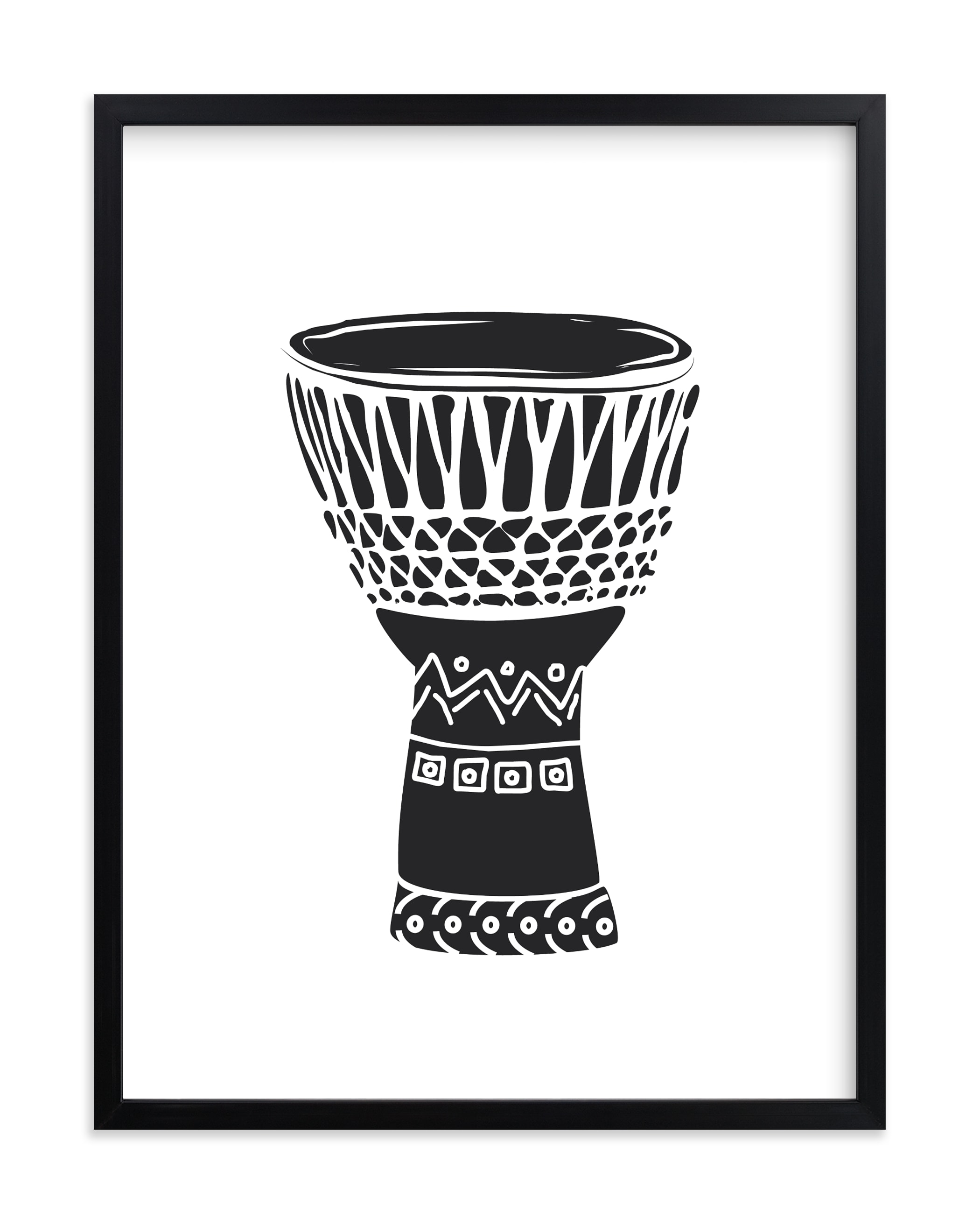 """African Drum"" - Limited Edition Art Print by Oma N. Ramkhelawan in beautiful frame options and a variety of sizes."