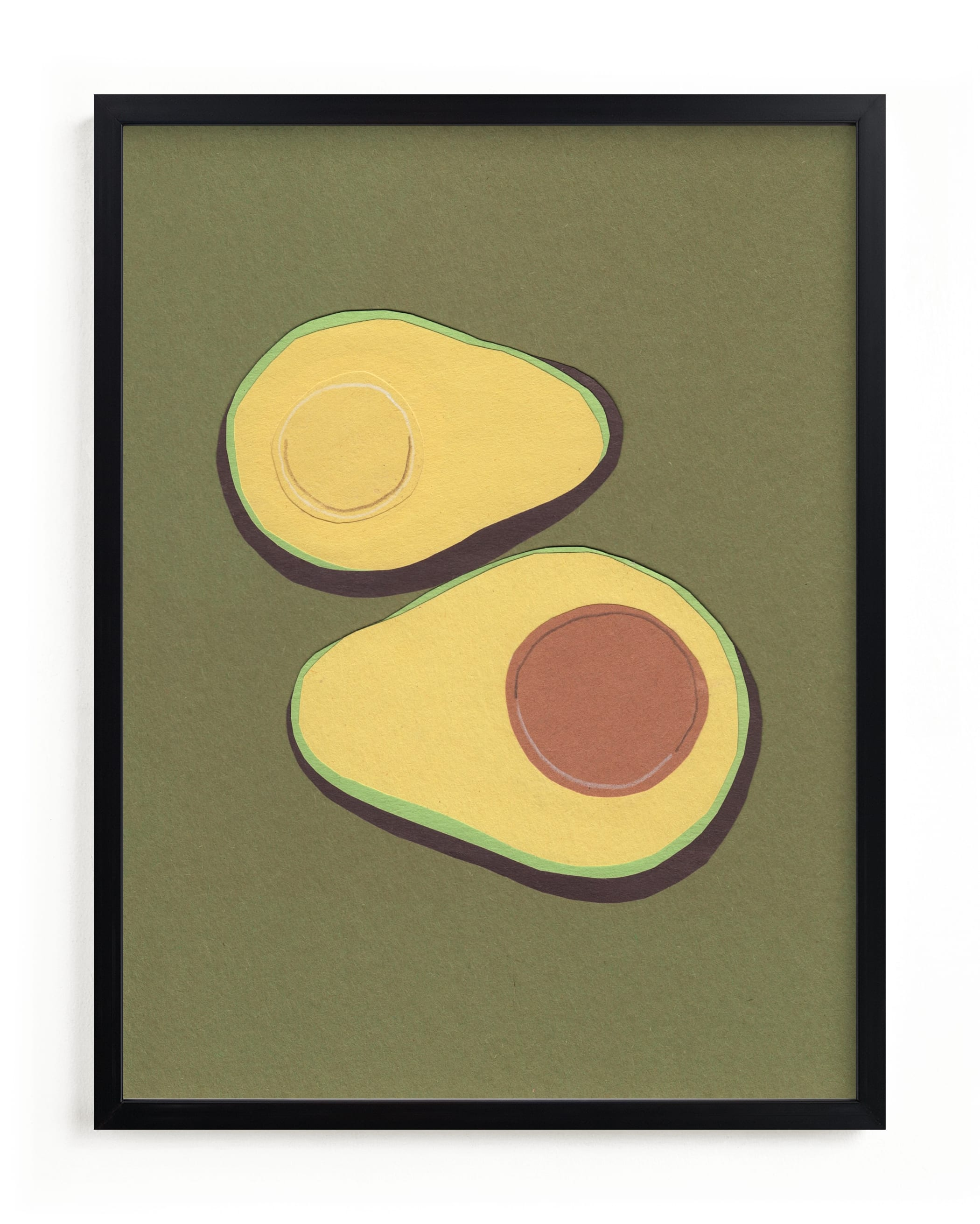 """""""avocado"""" - Limited Edition Art Print by Elliot Stokes in beautiful frame options and a variety of sizes."""