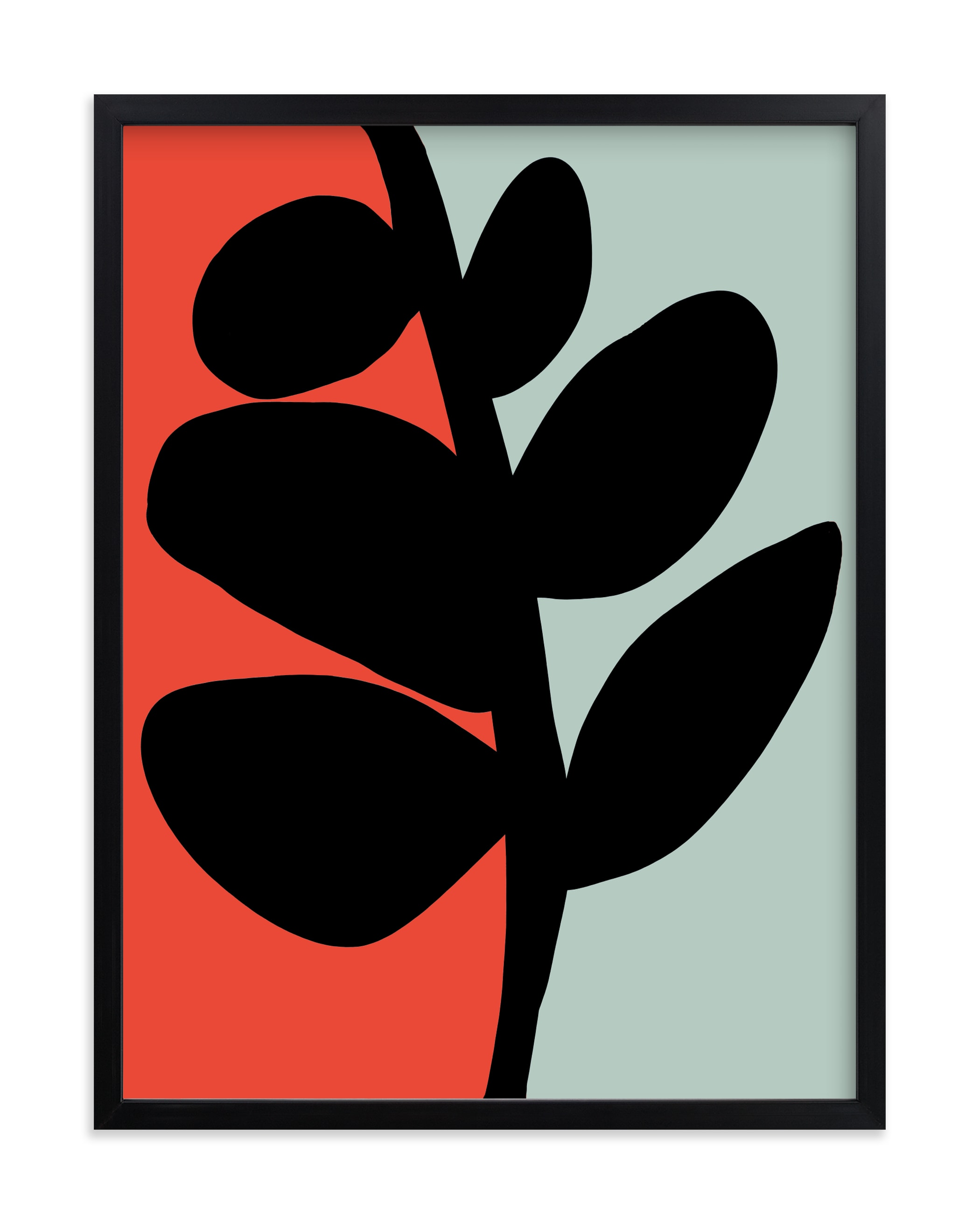 """""""Modern Black Stem"""" - Limited Edition Art Print by Deborah Velasquez in beautiful frame options and a variety of sizes."""