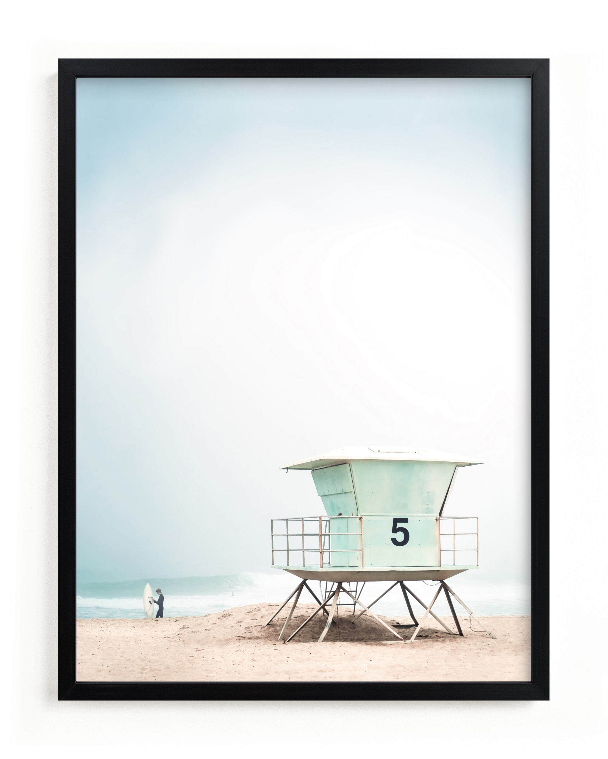 """""""Meet Me at Tower 5"""" - Grownup Open Edition Non-custom Art Print by Kamala Nahas in beautiful frame options and a variety of sizes."""