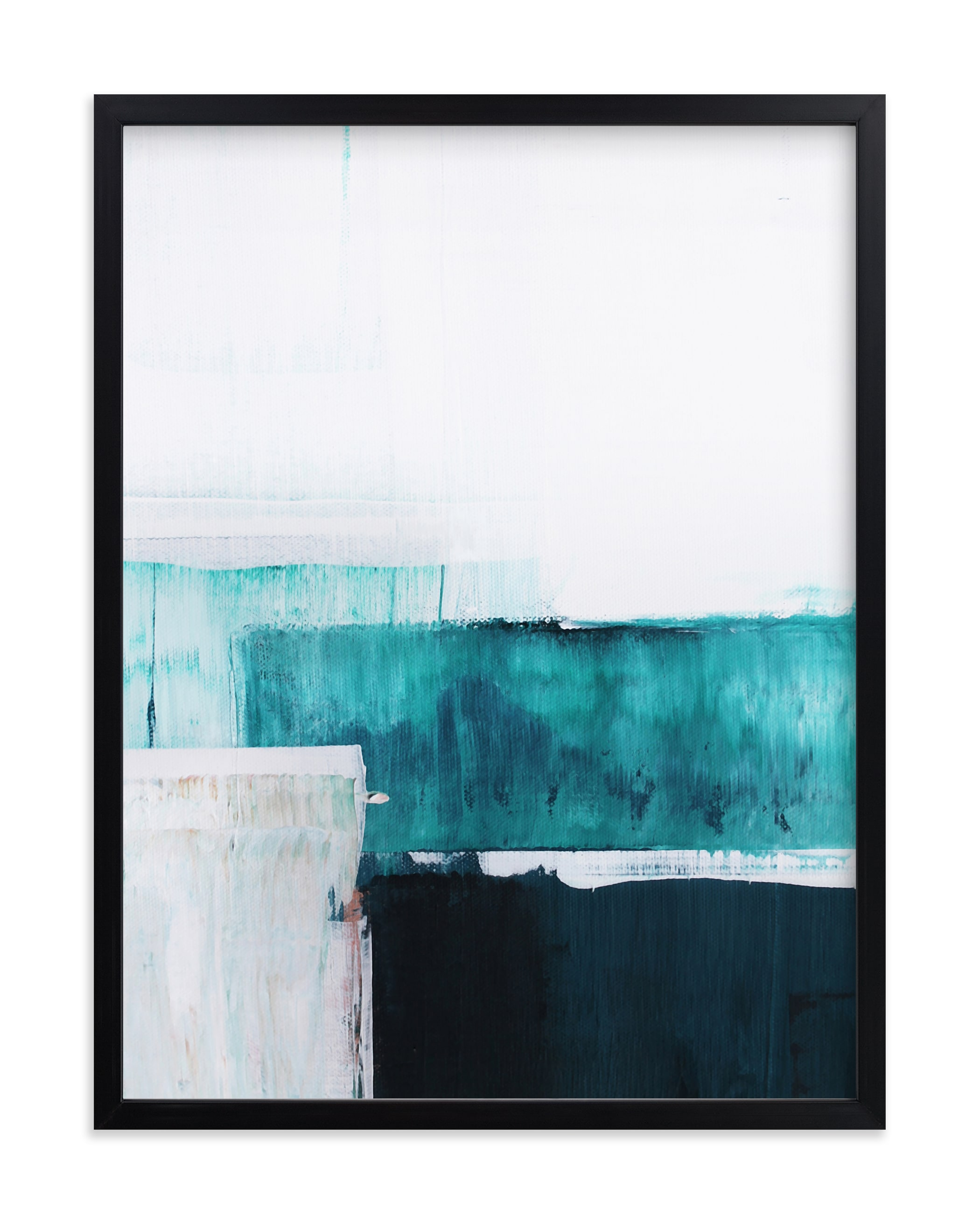 """""""Seawall"""" - Grownup Open Edition Non-custom Art Print by Karen Kaul in beautiful frame options and a variety of sizes."""