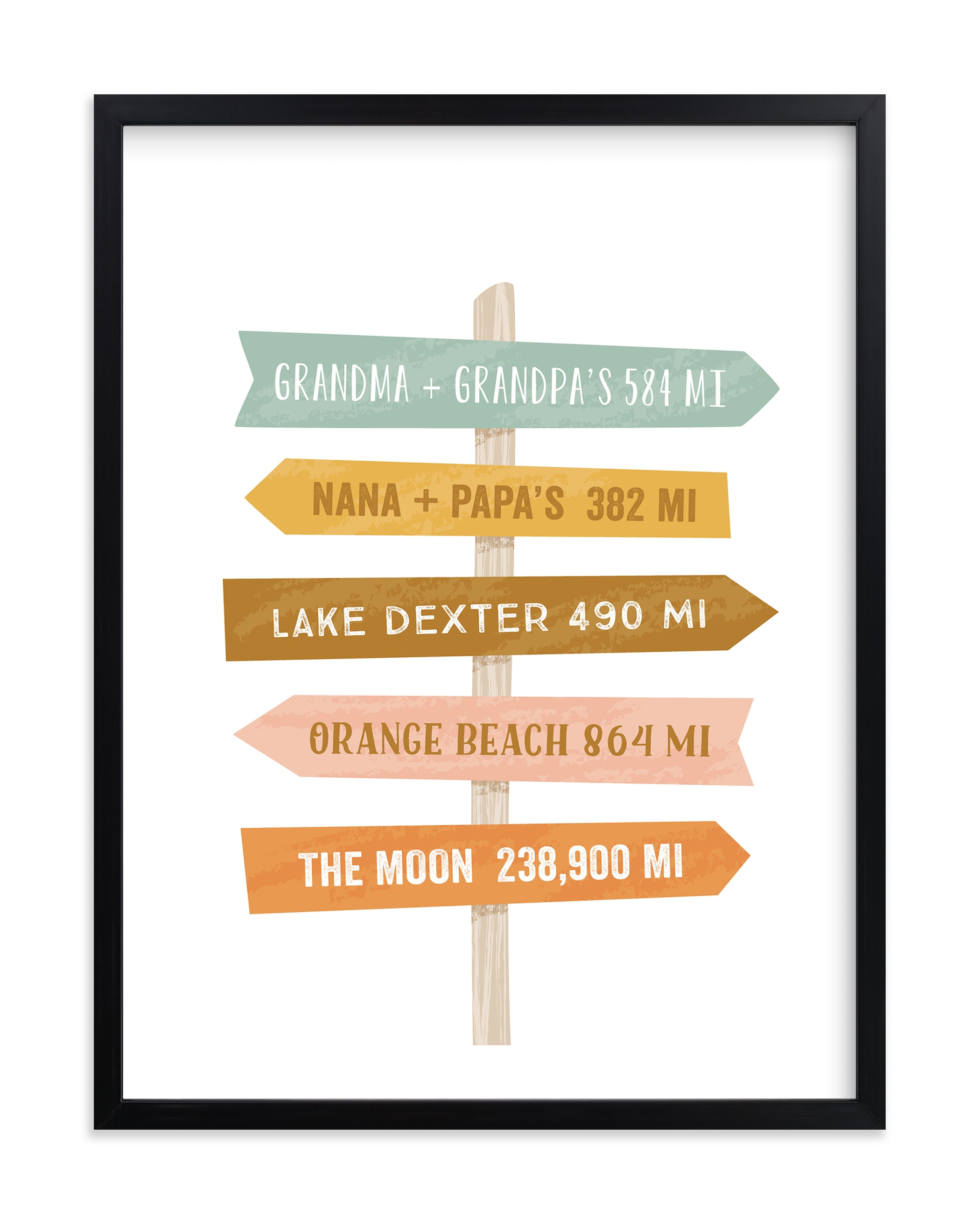 """Near or Far"" - Children's Custom Art Print by Laura Hankins in beautiful frame options and a variety of sizes."