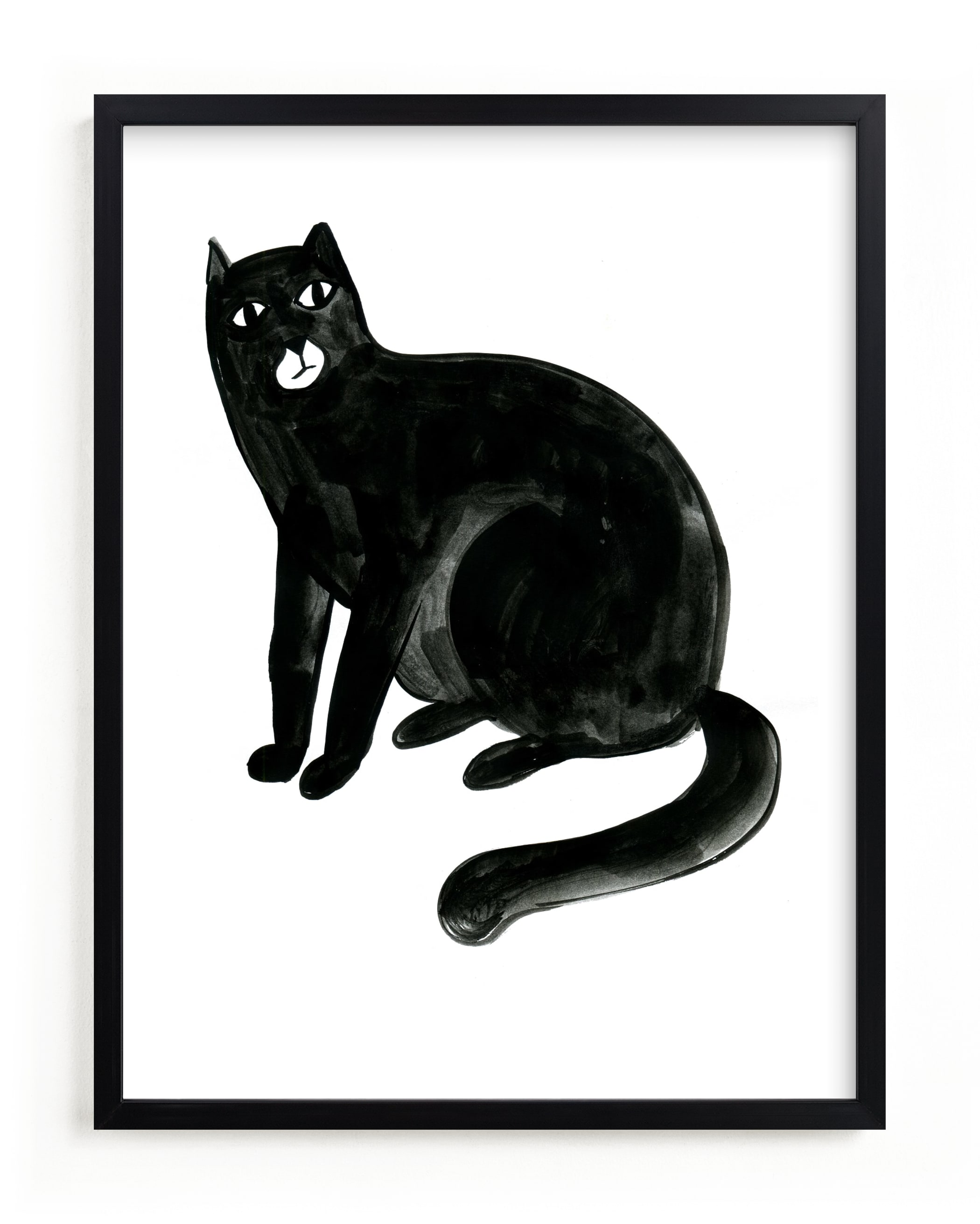"""Graphic cat"" - Limited Edition Art Print by Alexandra Dzh in beautiful frame options and a variety of sizes."