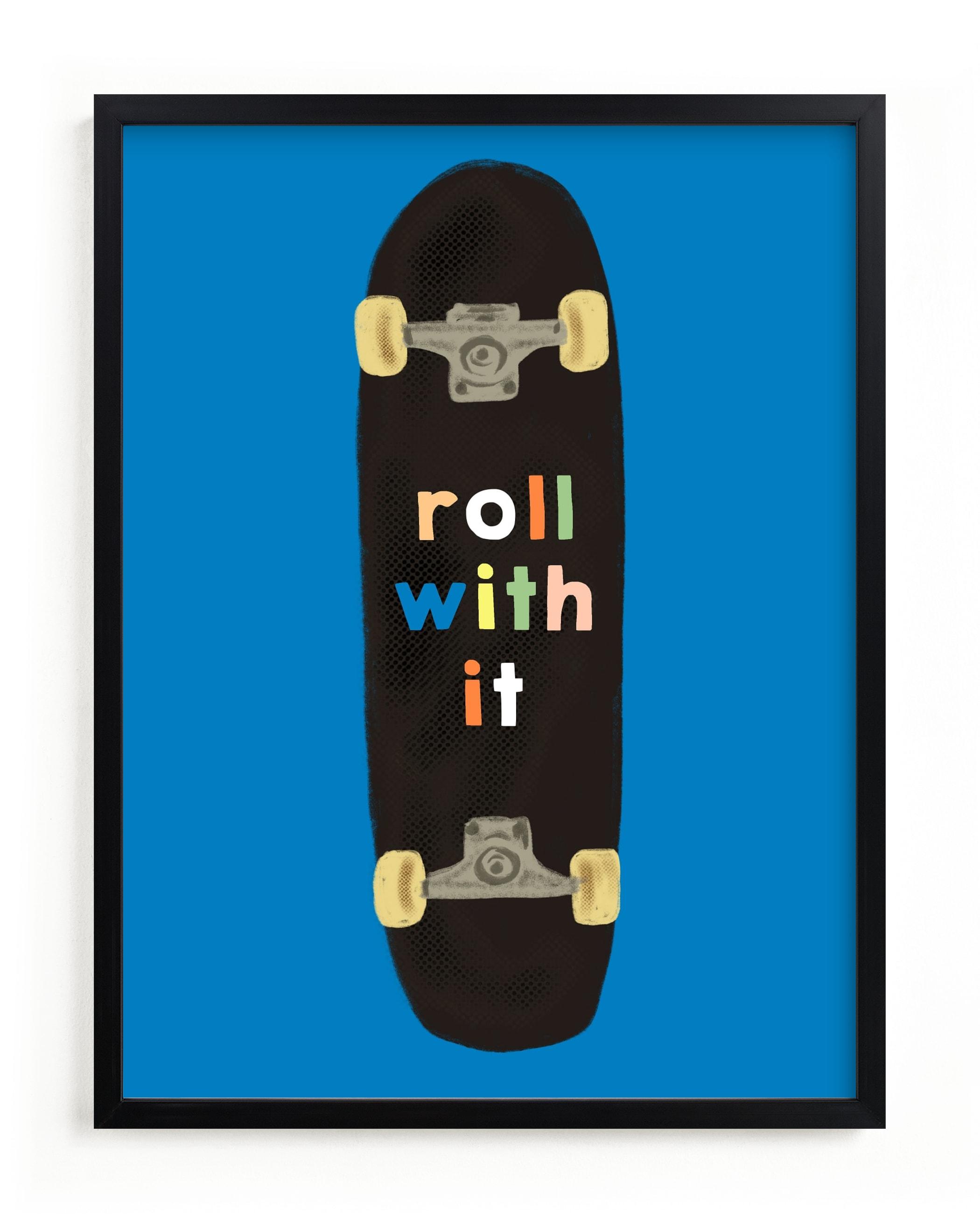 roll with it Children's Art Print