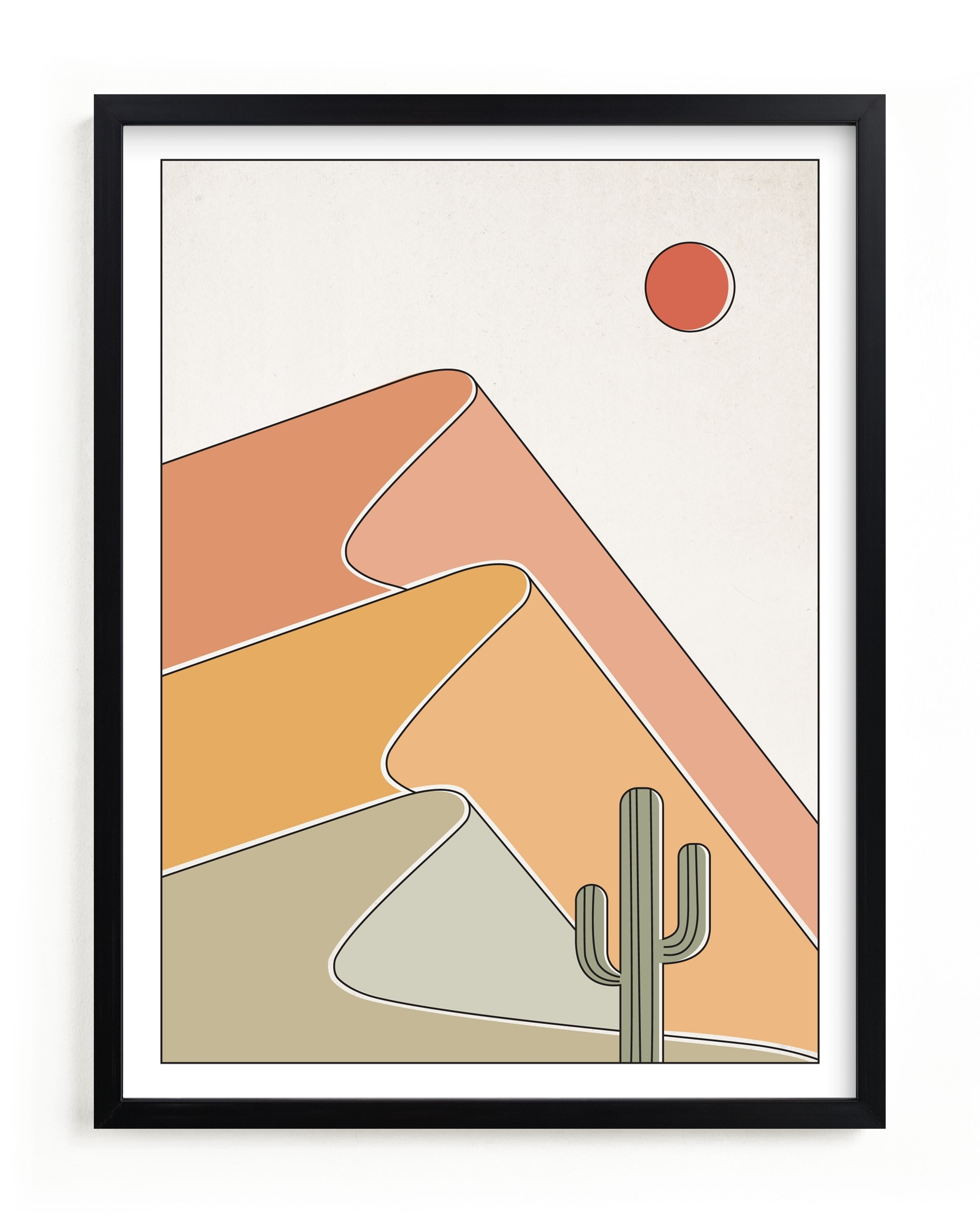 """""""Gradual Desert"""" - Limited Edition Art Print by Dana Beckwith in beautiful frame options and a variety of sizes."""