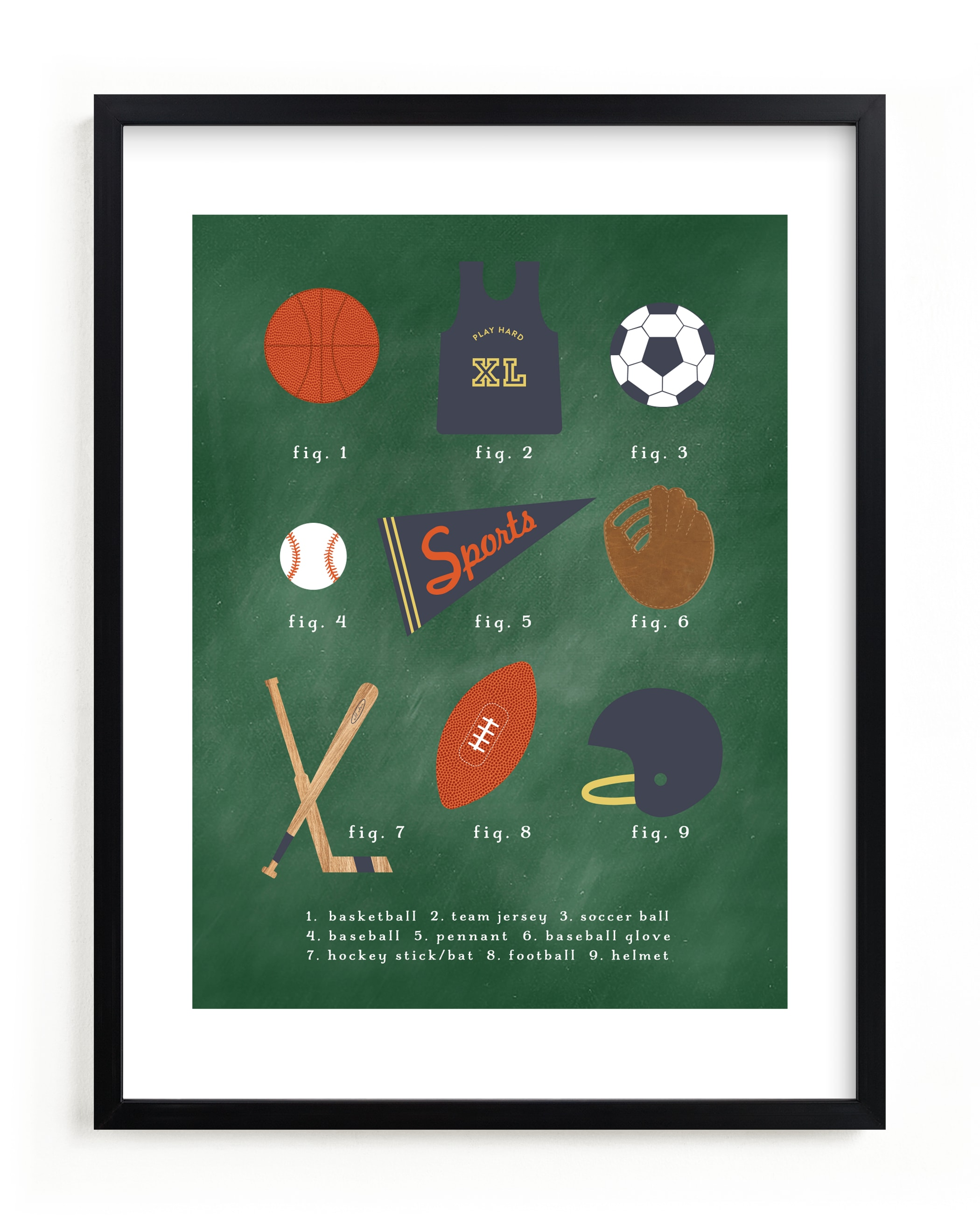 """""""SPORTS PRIMER"""" by Susan Brown in beautiful frame options and a variety of sizes."""