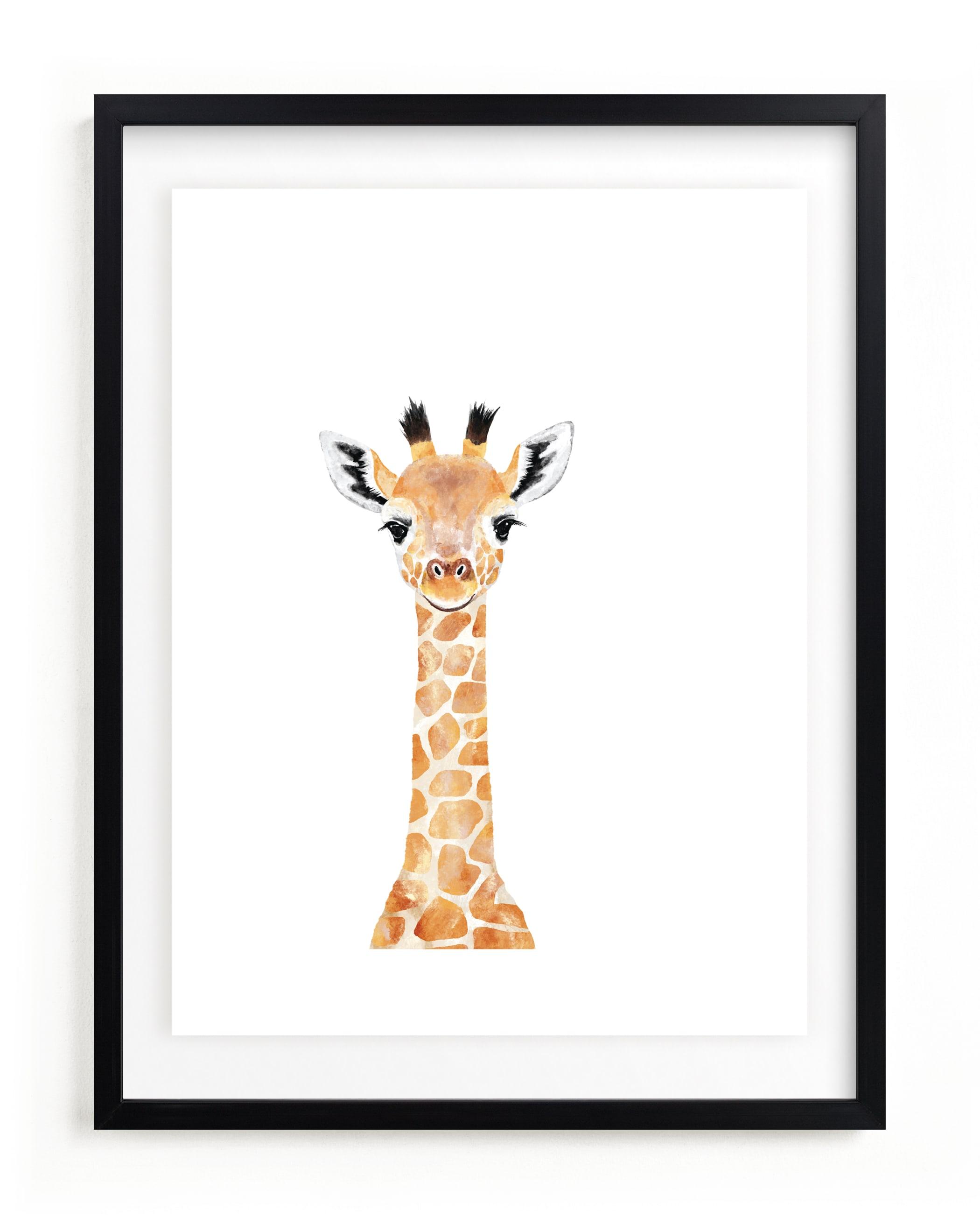 Baby Giraffe 2 Kids Open Edition Non-Custom Art Print