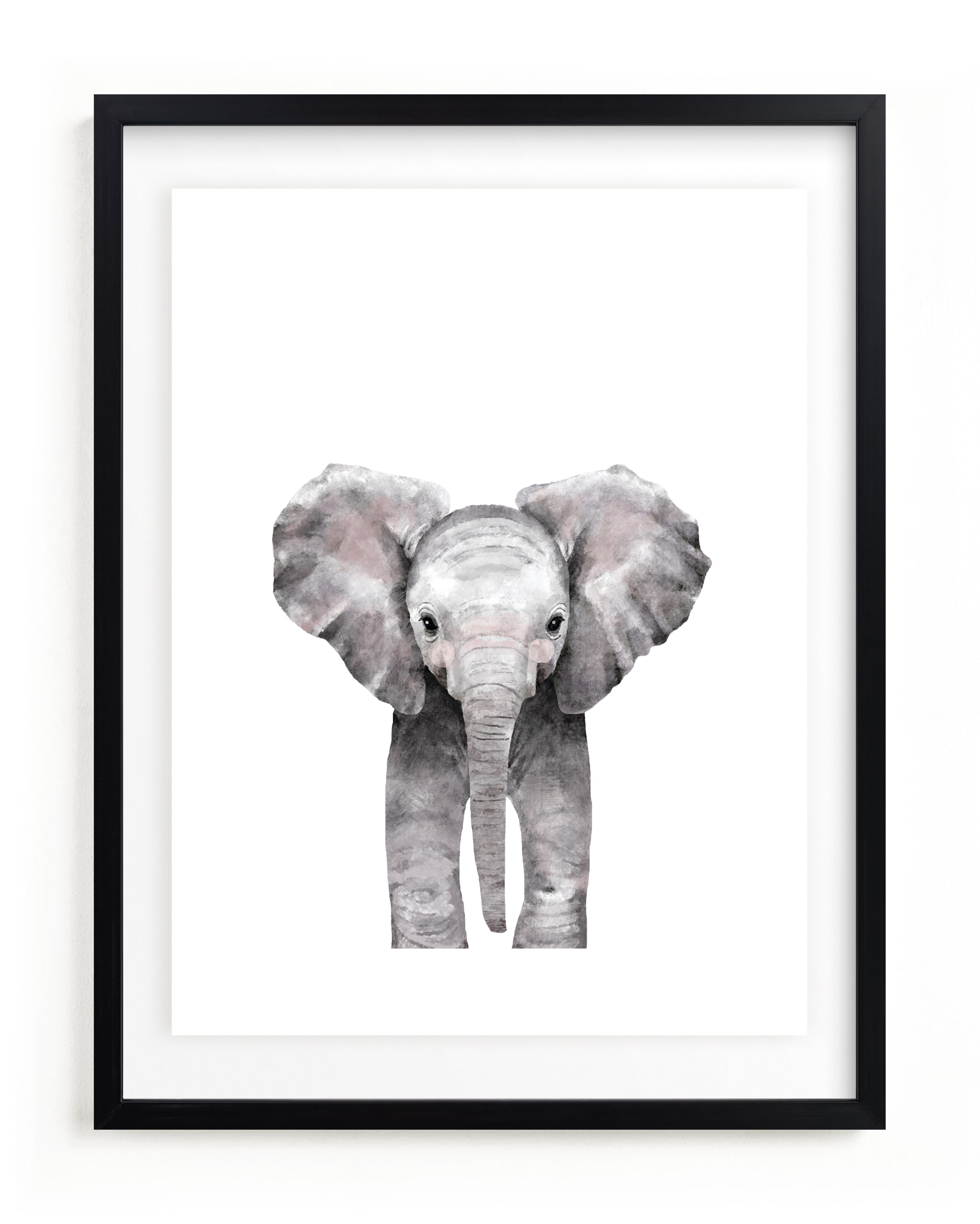 Baby Animal Elephant Kids Open Edition Non-Custom Art Print