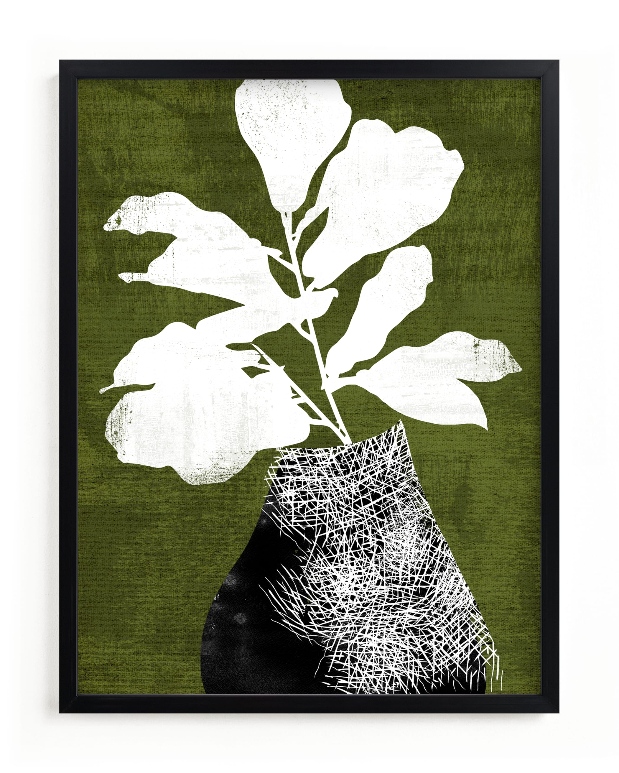 """""""Fig Silhouette"""" by Tanya Lee Design in beautiful frame options and a variety of sizes."""