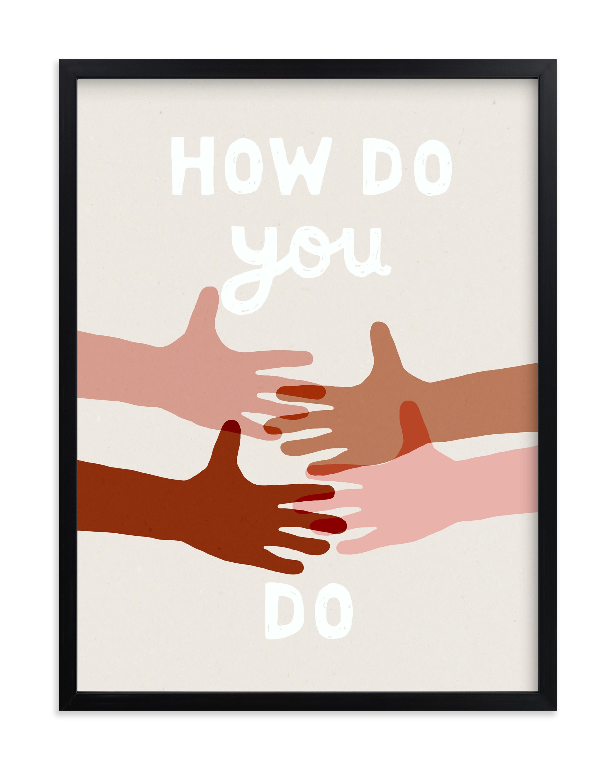 """How Do You Do"" by Francesca Iannaccone in beautiful frame options and a variety of sizes."