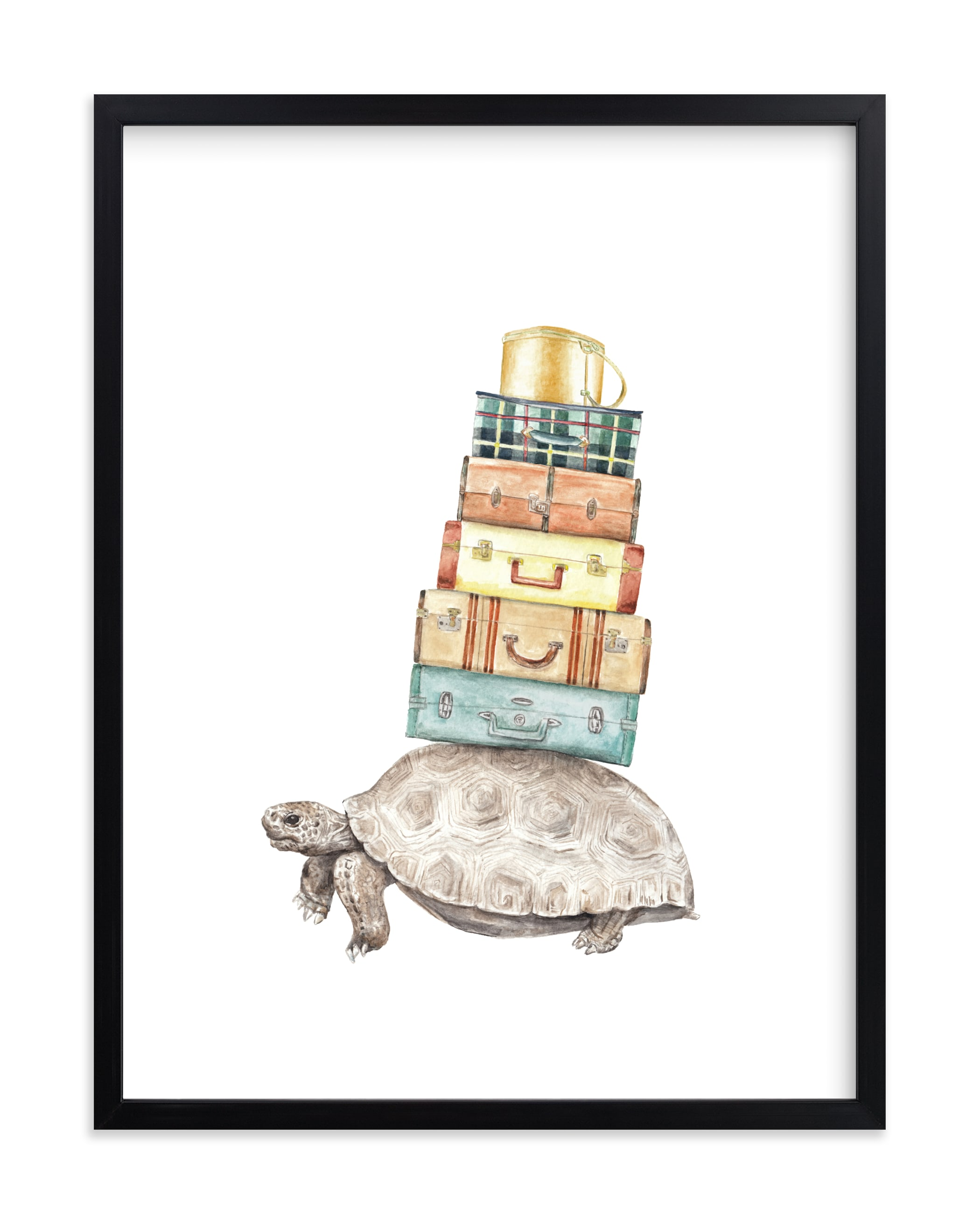 """""""Taking Home W/U: Traveling Tortoise"""" by Lauren Rogoff in beautiful frame options and a variety of sizes."""
