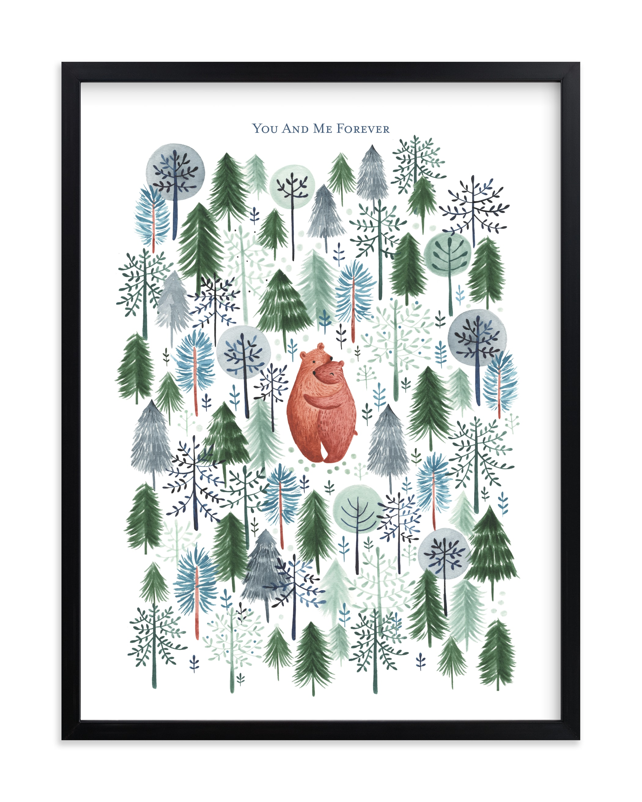 """""""Never Alone"""" - Nursery Custom Art Print by Sarah Knight in beautiful frame options and a variety of sizes."""