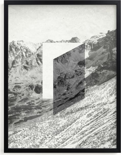 This is a white art by Sumak Studio called Mountain View.