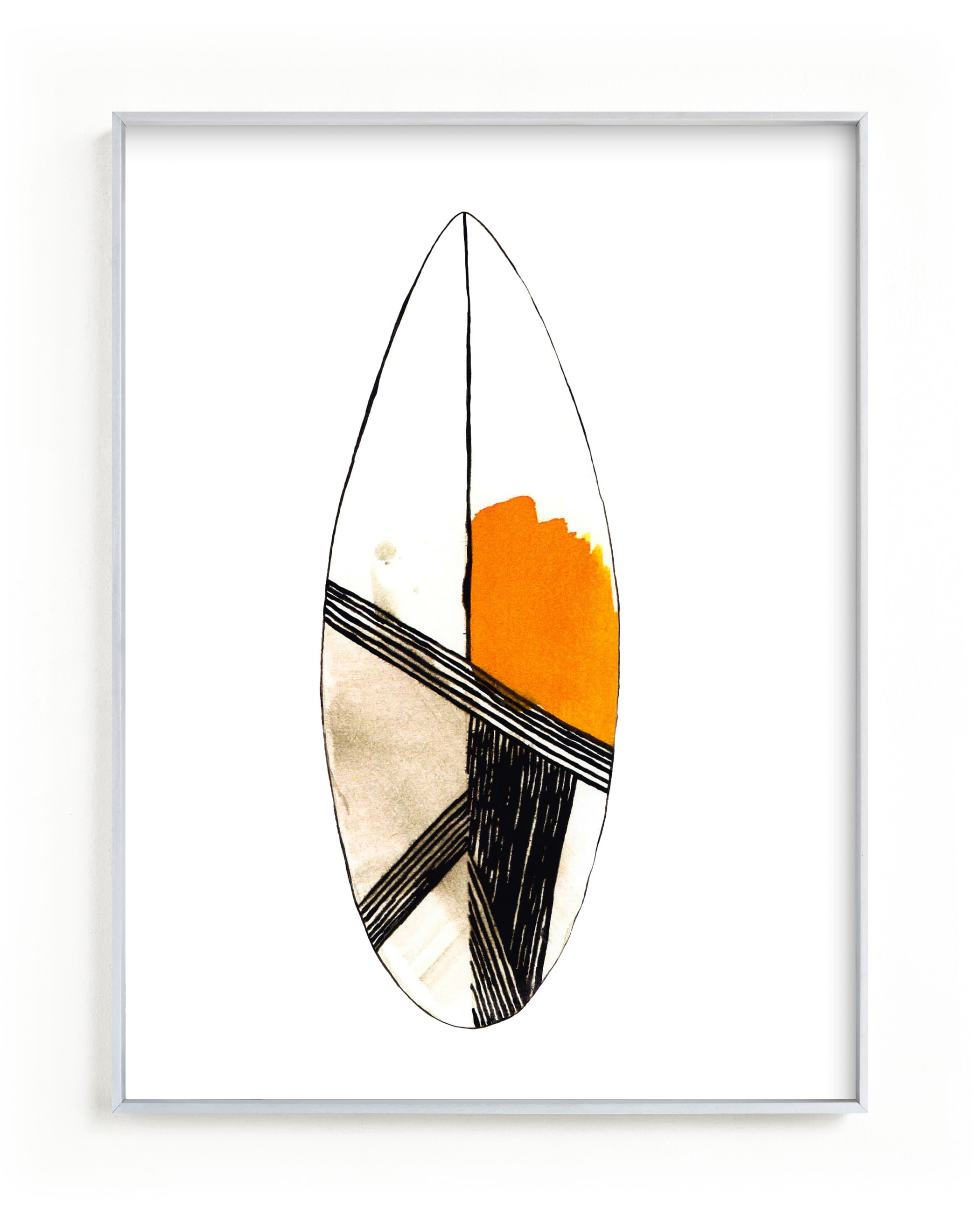 """Surf"" - Limited Edition Art Print by Susanna Nousiainen in beautiful frame options and a variety of sizes."