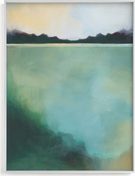 This is a blue art by Alison Jerry Designs called Whispering Pines.