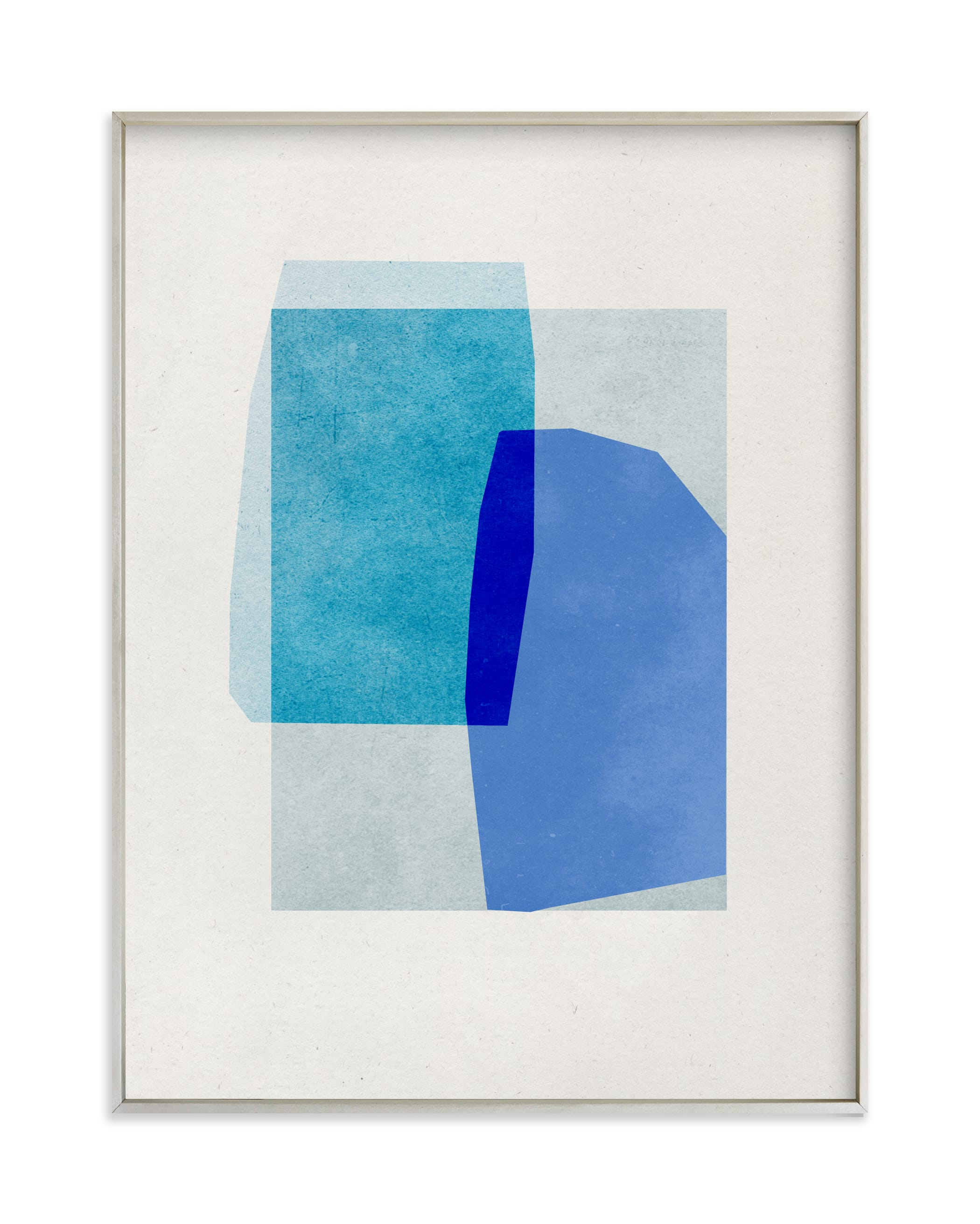 blue abstraction Art Print