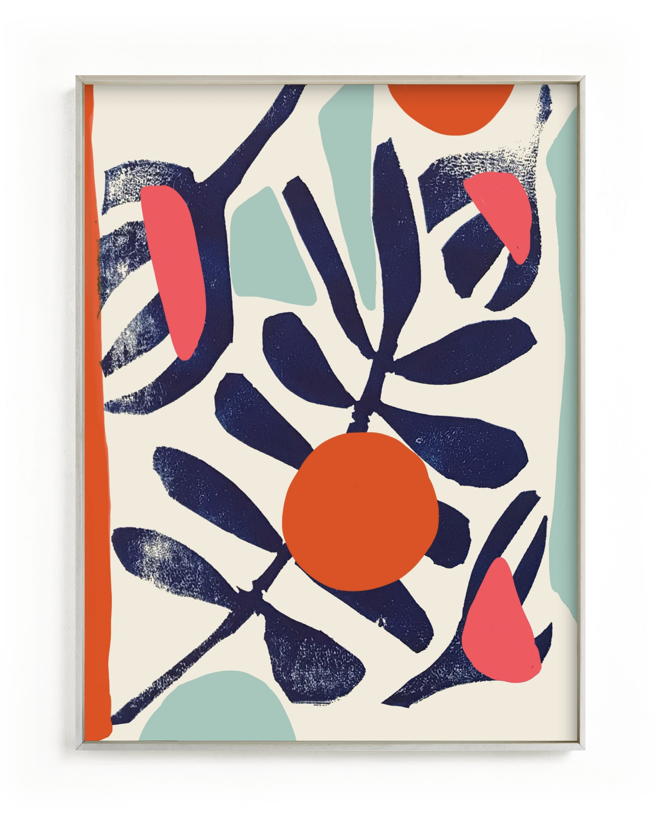 This is a blue kids wall art by Deborah Velasquez called Garden Remixed and Reimagined.