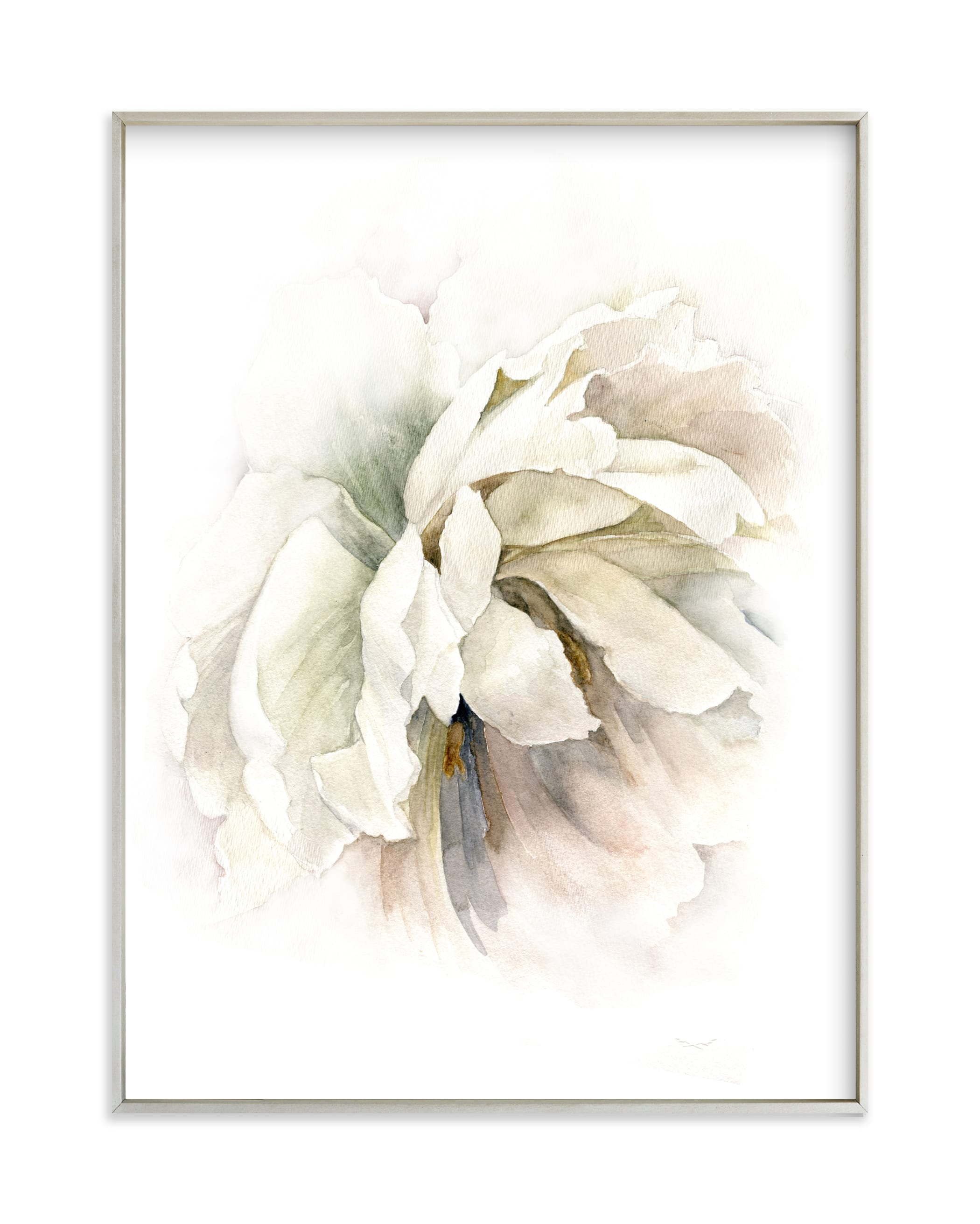"""""""Neutral Petals"""" by Jess Blazejewski in beautiful frame options and a variety of sizes."""
