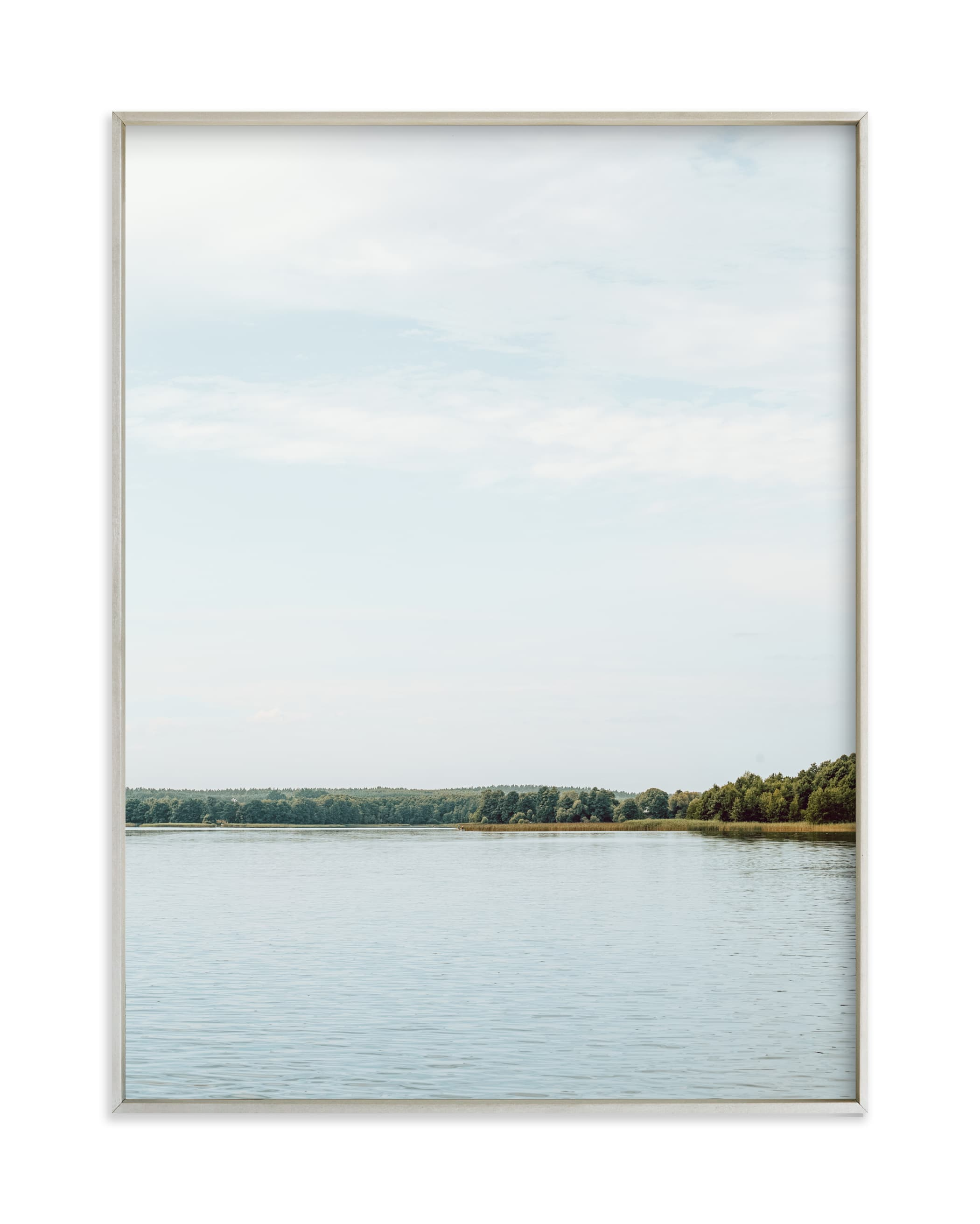 """""""Peaceful lake III"""" by Lying on the grass in beautiful frame options and a variety of sizes."""