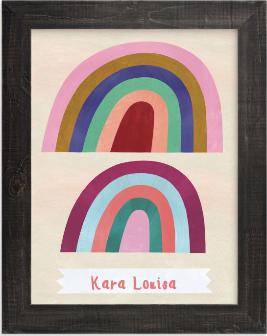 This is a colorful personalized art for kid by melanie mikecz called Double Arches.