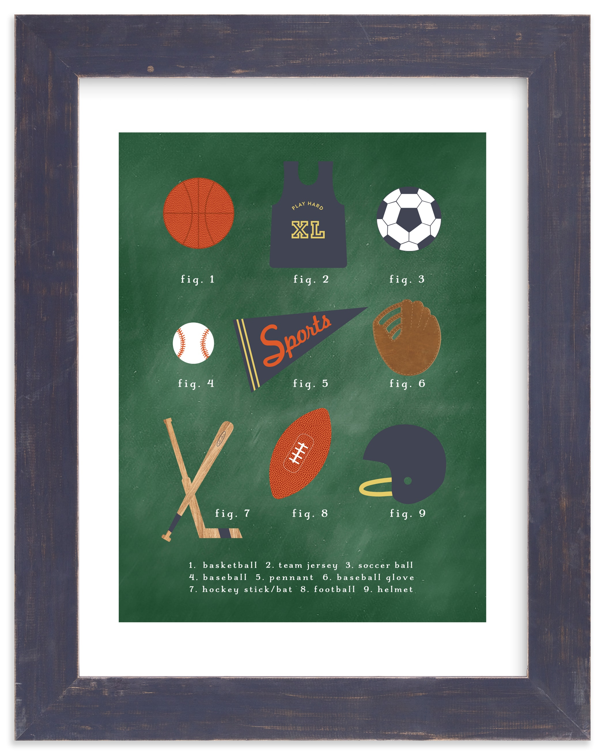 """SPORTS PRIMER"" by Susan Brown in beautiful frame options and a variety of sizes."