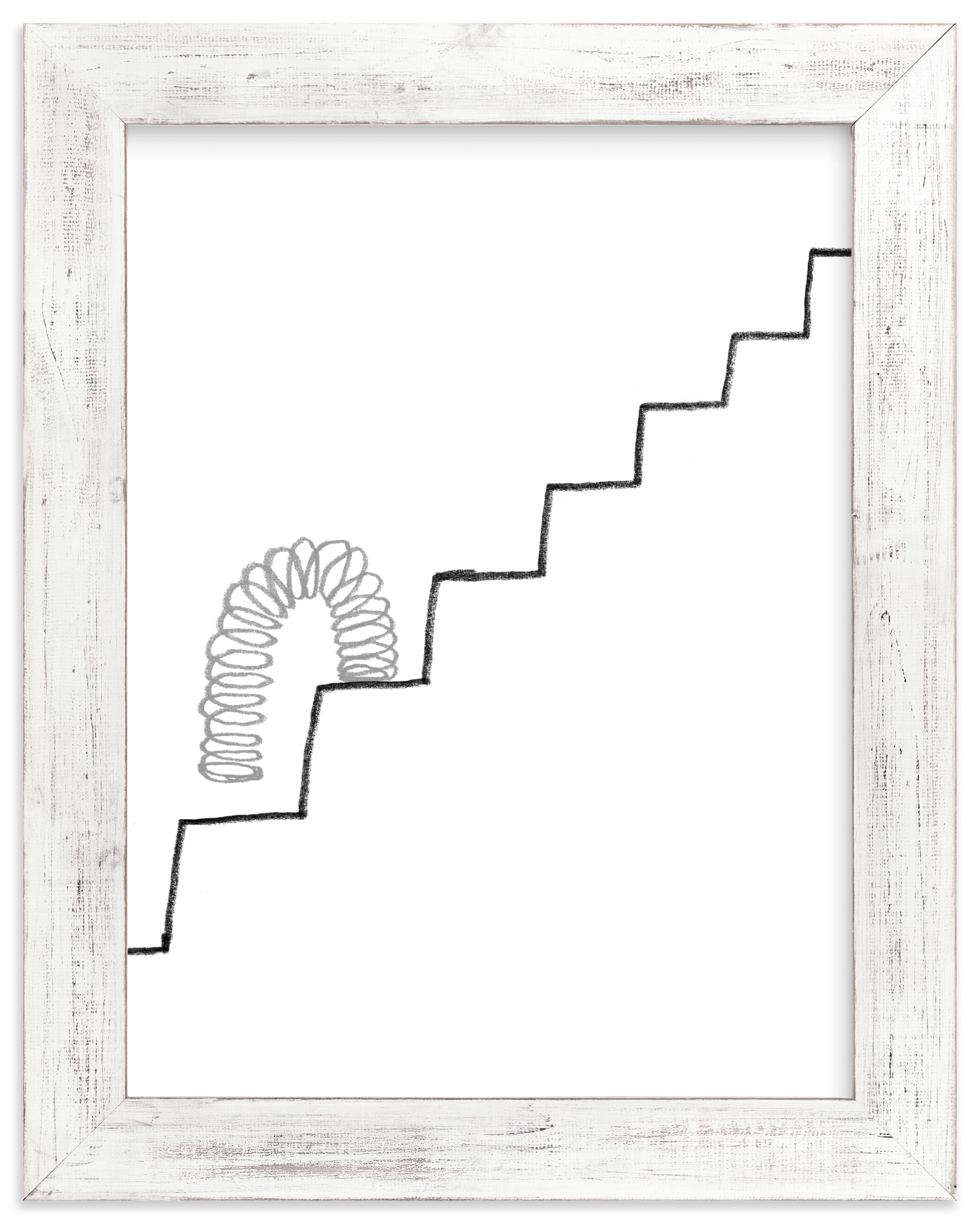 """Slinky on the Stairs"" - Limited Edition Art Print by Elliot Stokes in beautiful frame options and a variety of sizes."