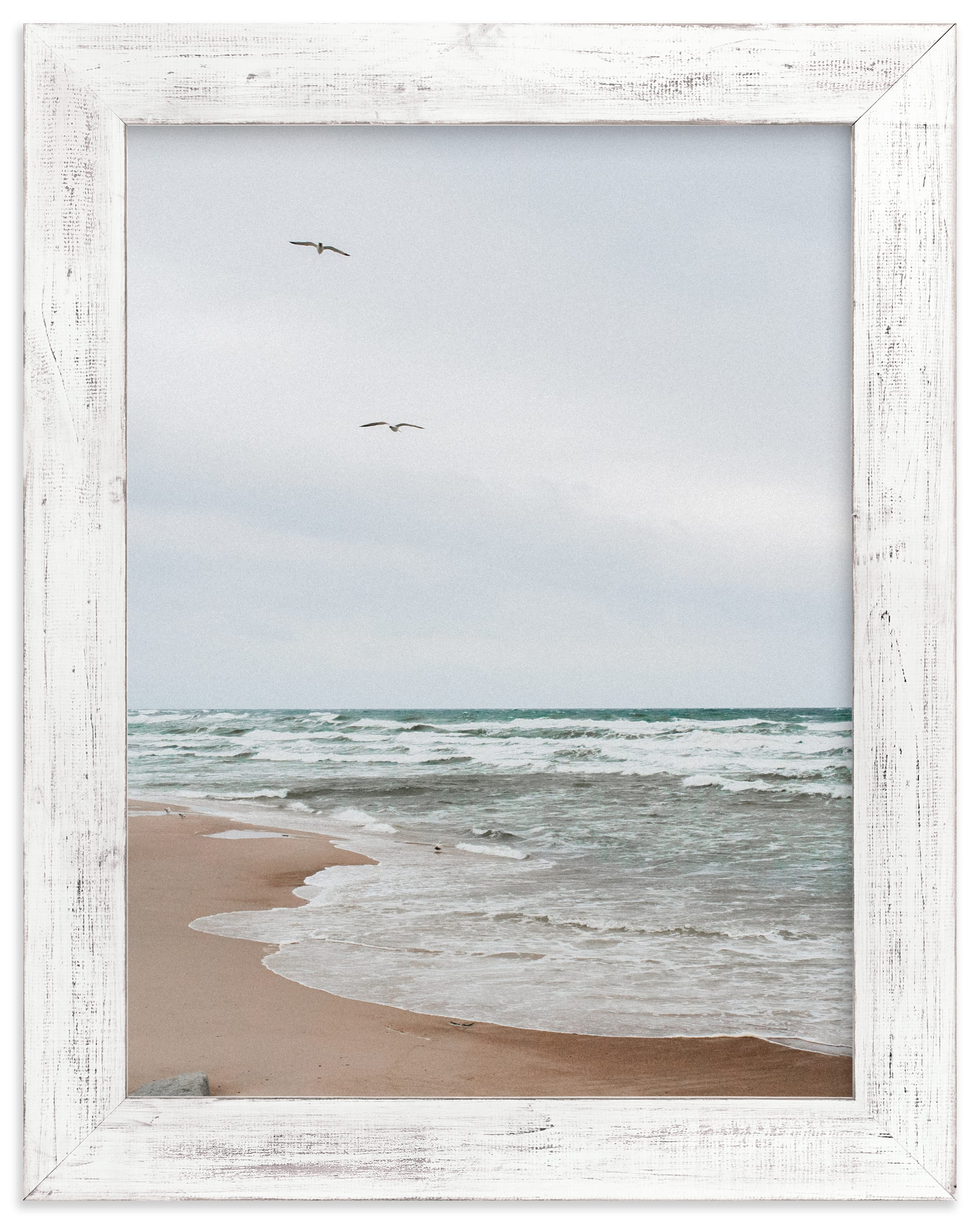 """White wave and bird"" by Lying on the grass in beautiful frame options and a variety of sizes."