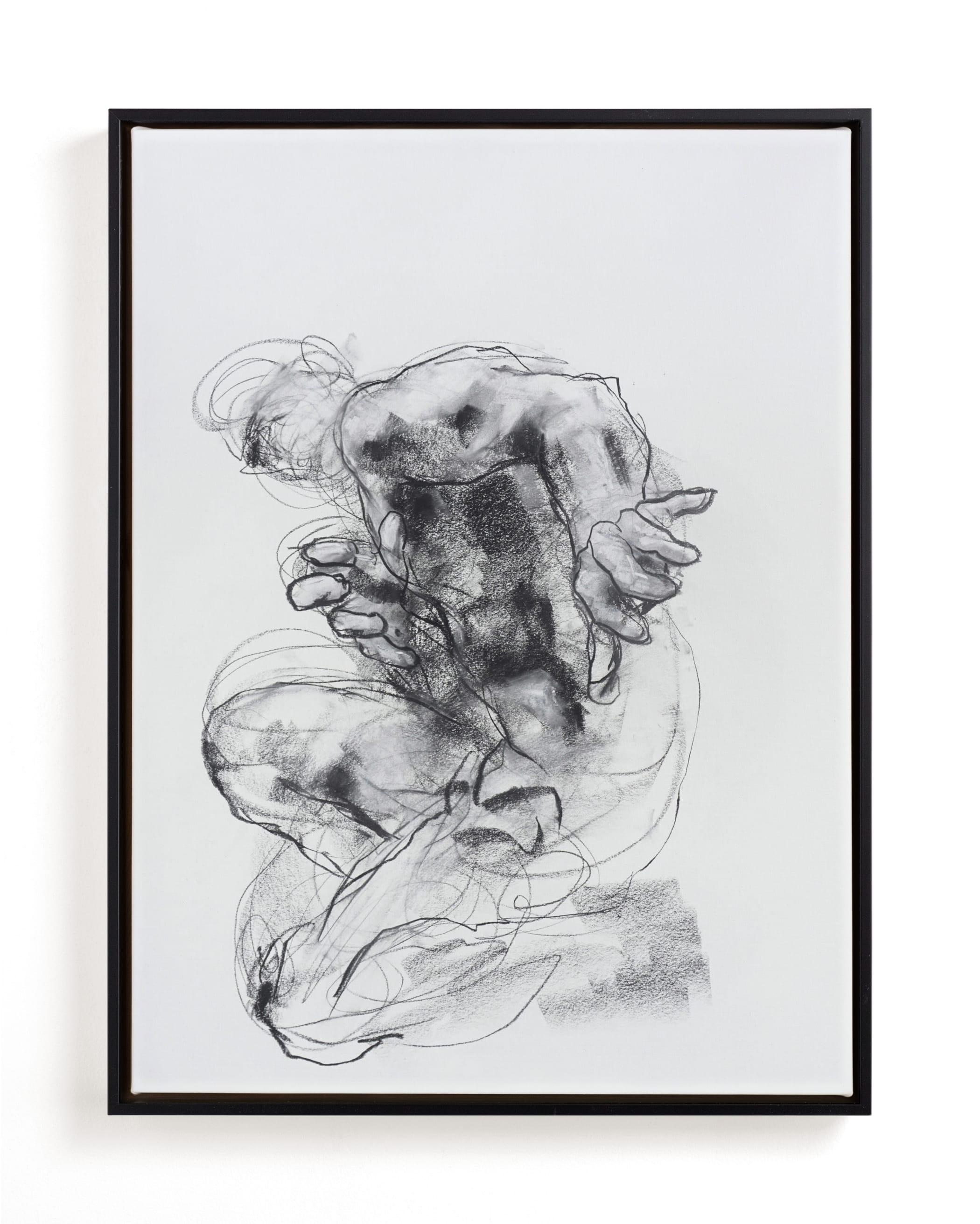 Drawing 538 - Crouching Figure Art Print