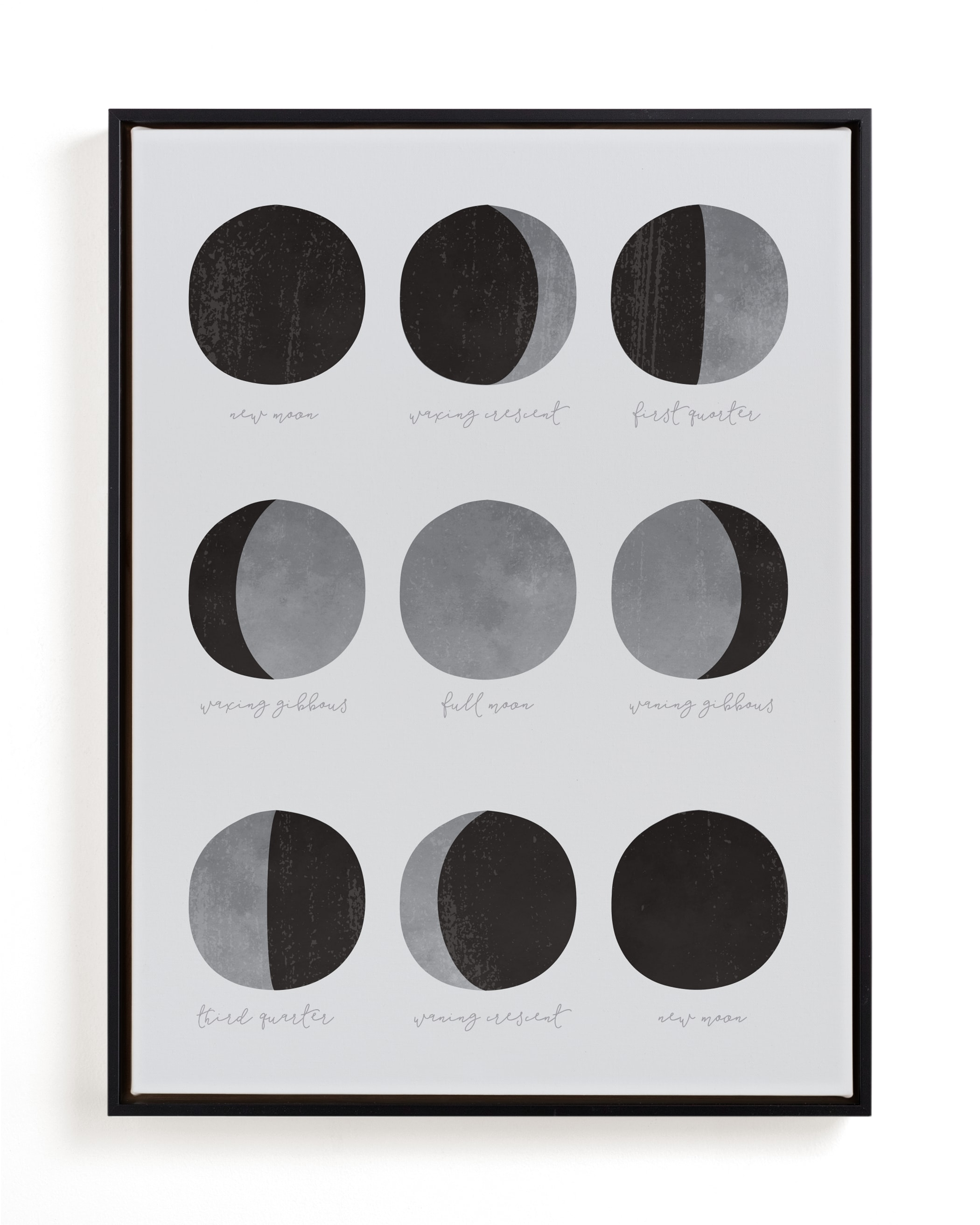 the lunar cycle Children's Art Print