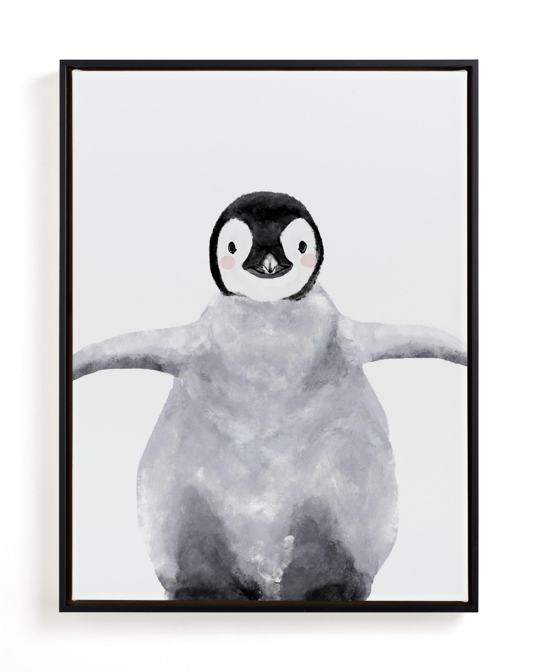 Baby Animal Penguin Children's Art Print