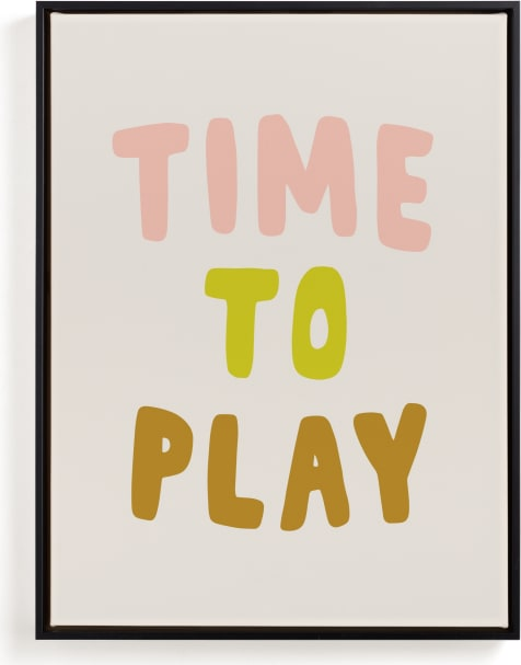This is a brown kids wall art by Alicia Schultz called Time to Play.