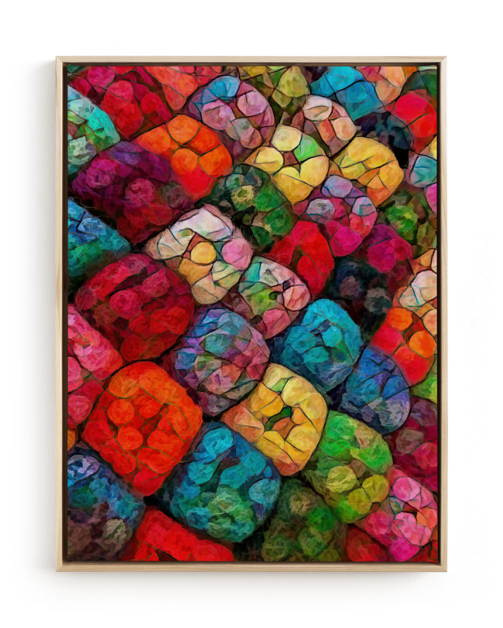 Abstract Felted Wool I Wall Art Print