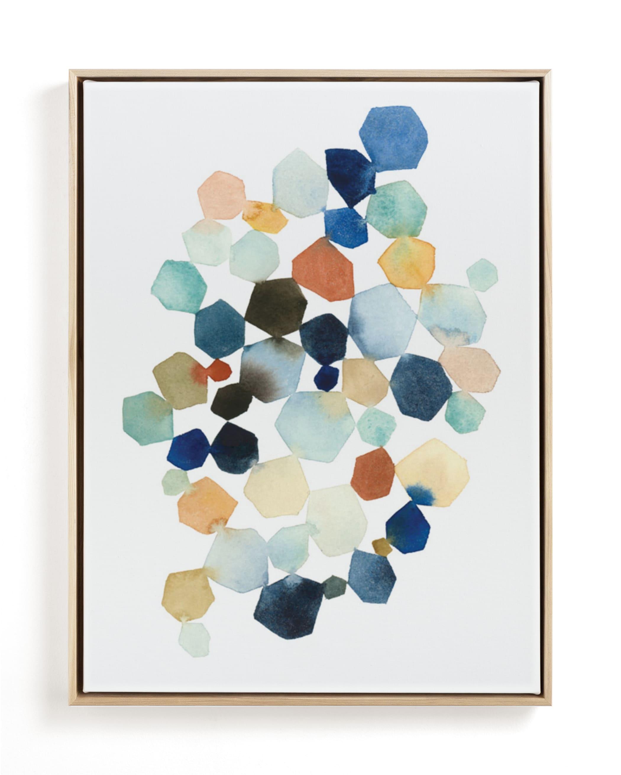 Hexagon Cluster Art Print
