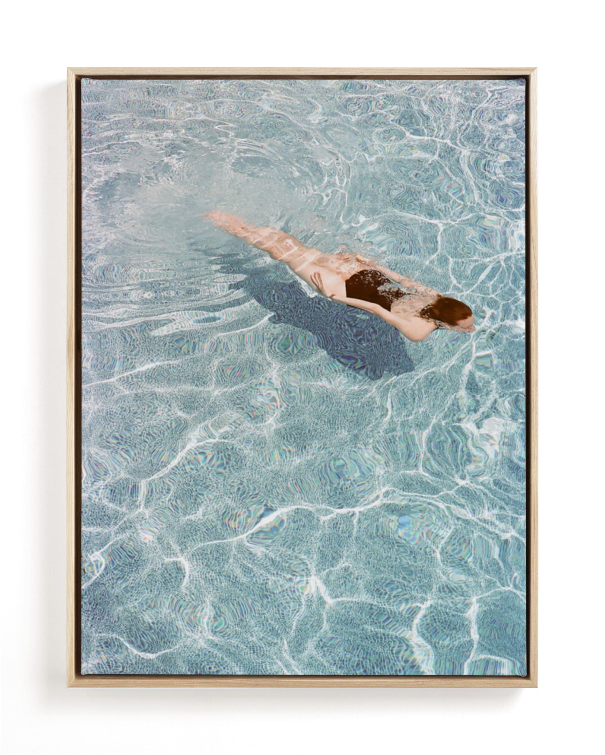 Going for a Swim Art Print