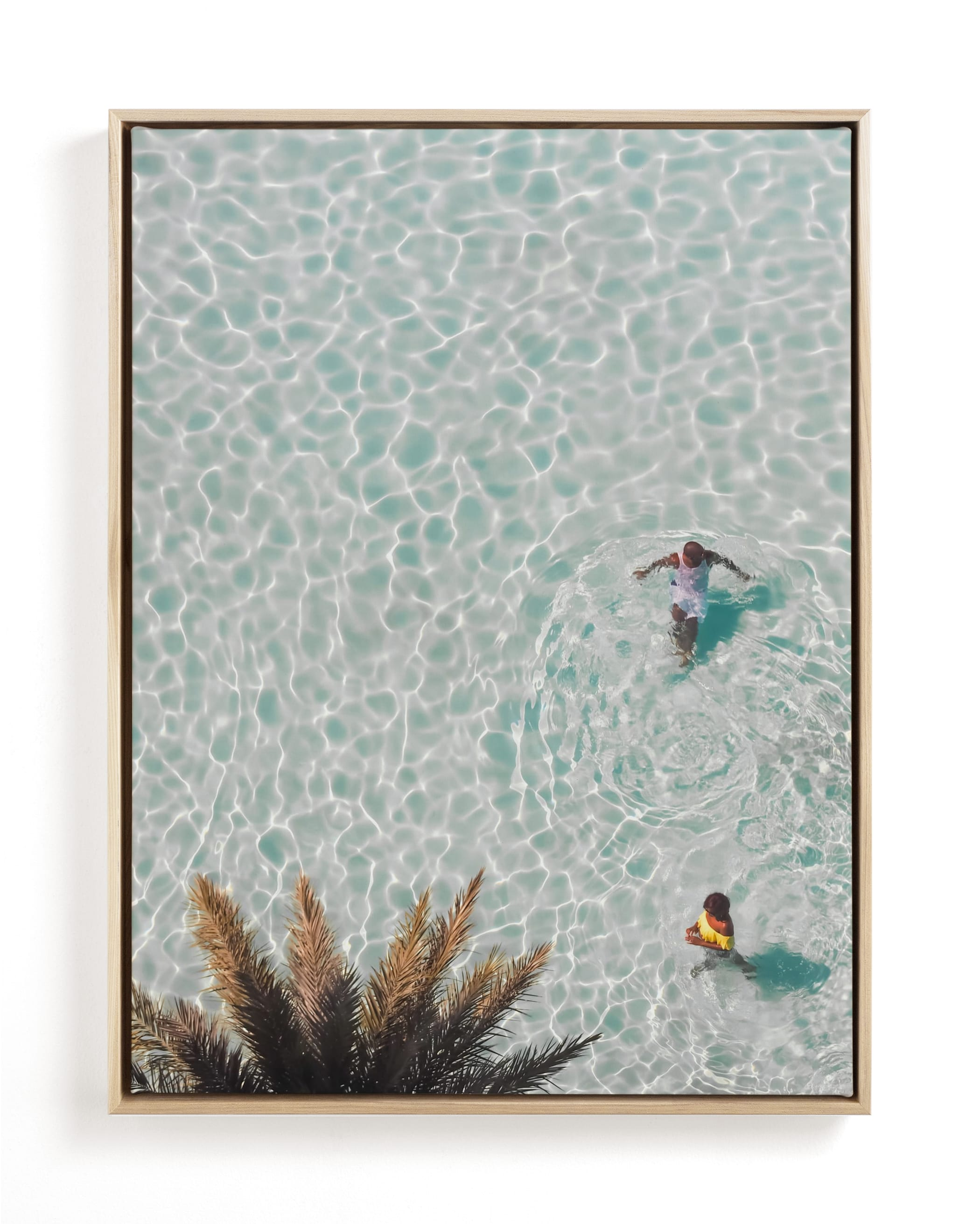 Pool Party for Two Art Print