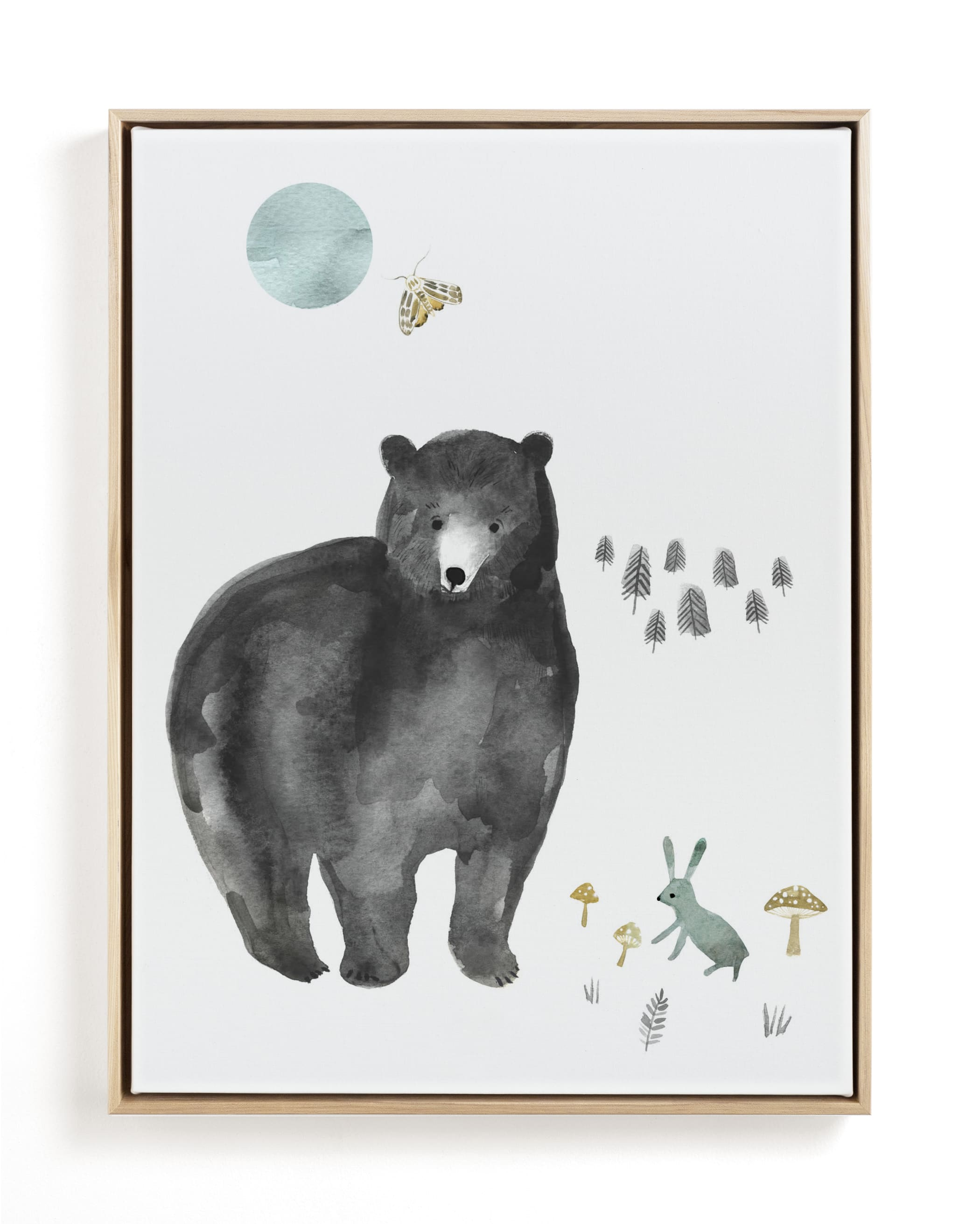 Bear and Bunny Children's Art Print