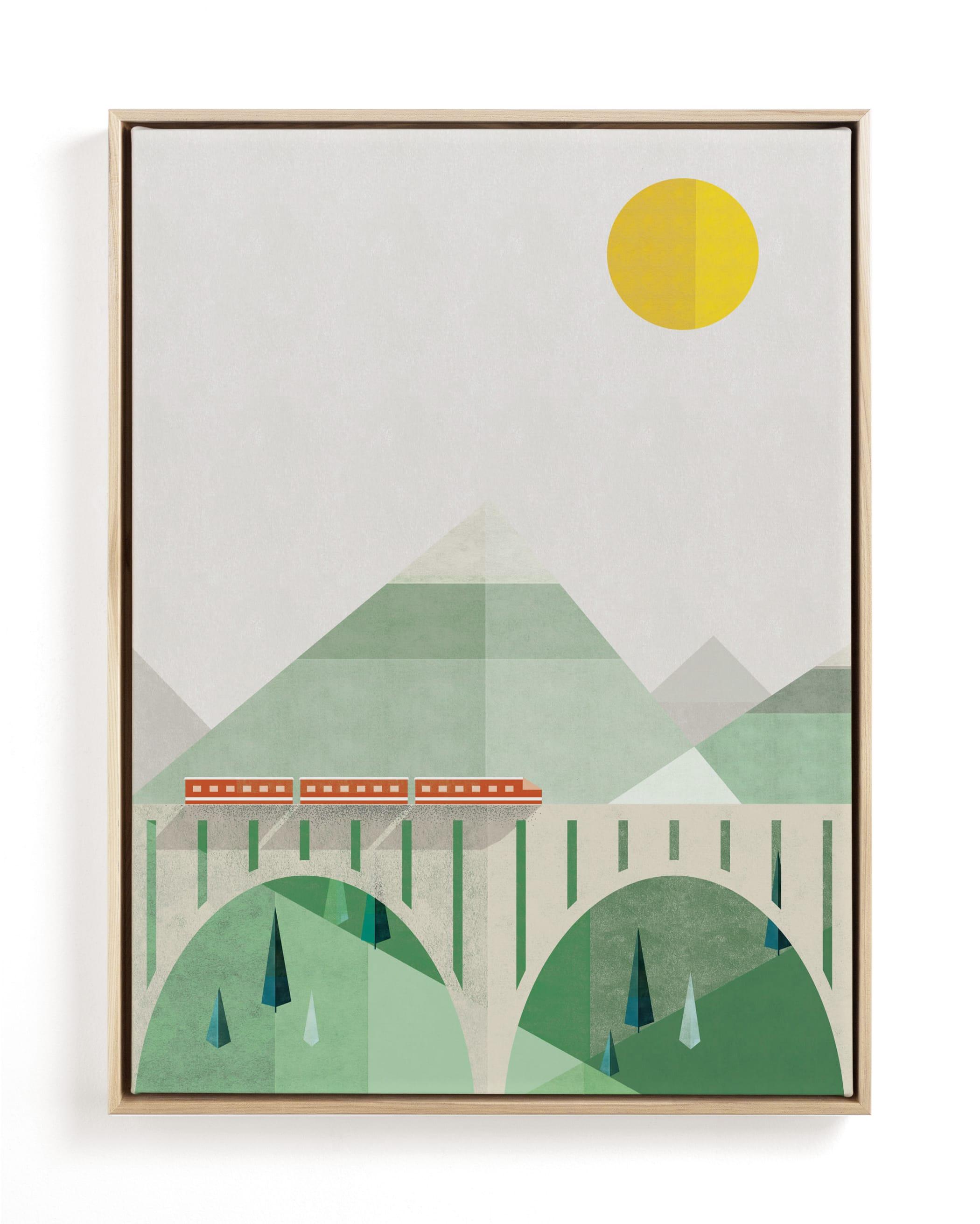 Train Voyage Children's Art Print