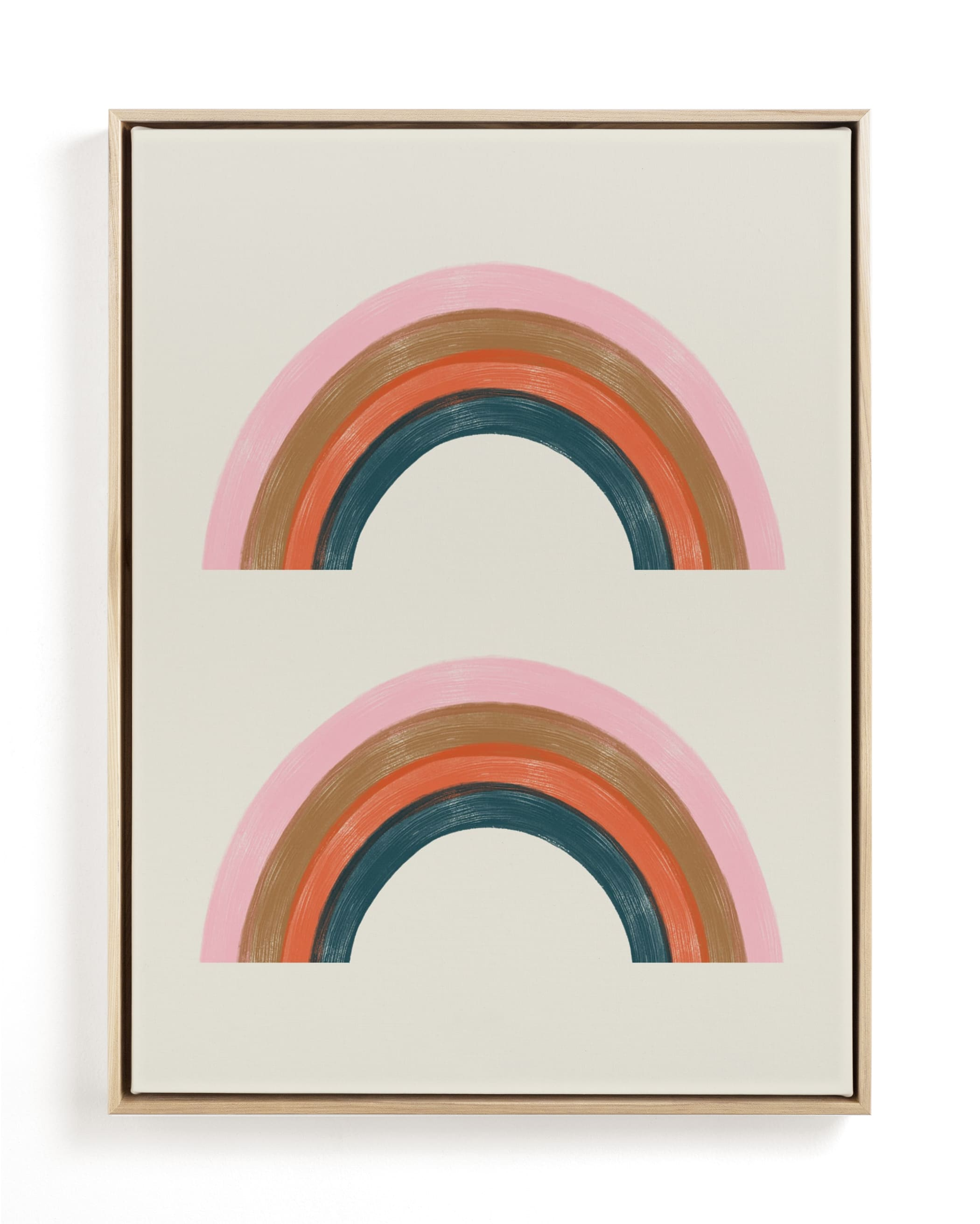 Double Vintage Rainbow Children's Art Print