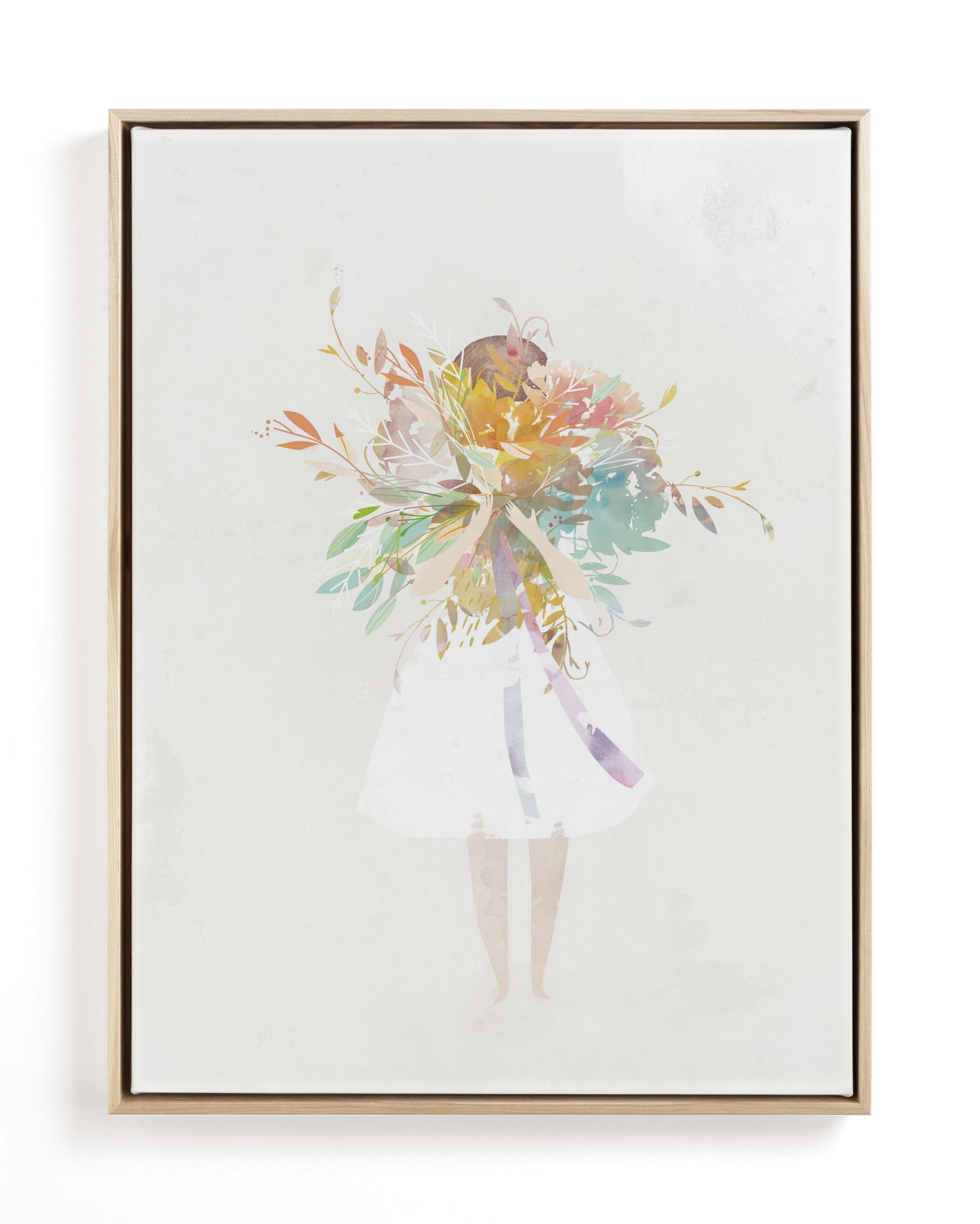 The Flower Girl Children's Art Print