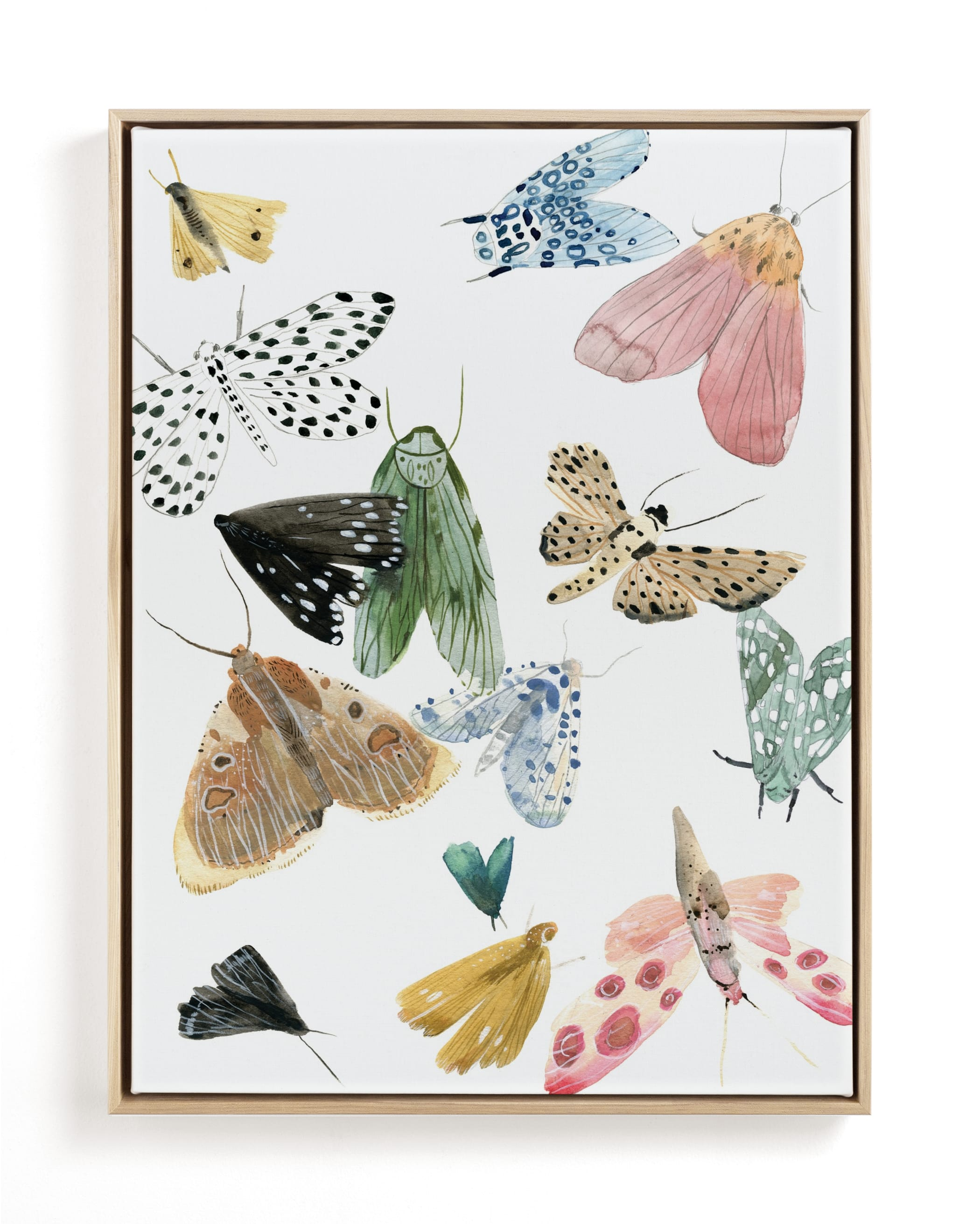 Moths Children's Art Print
