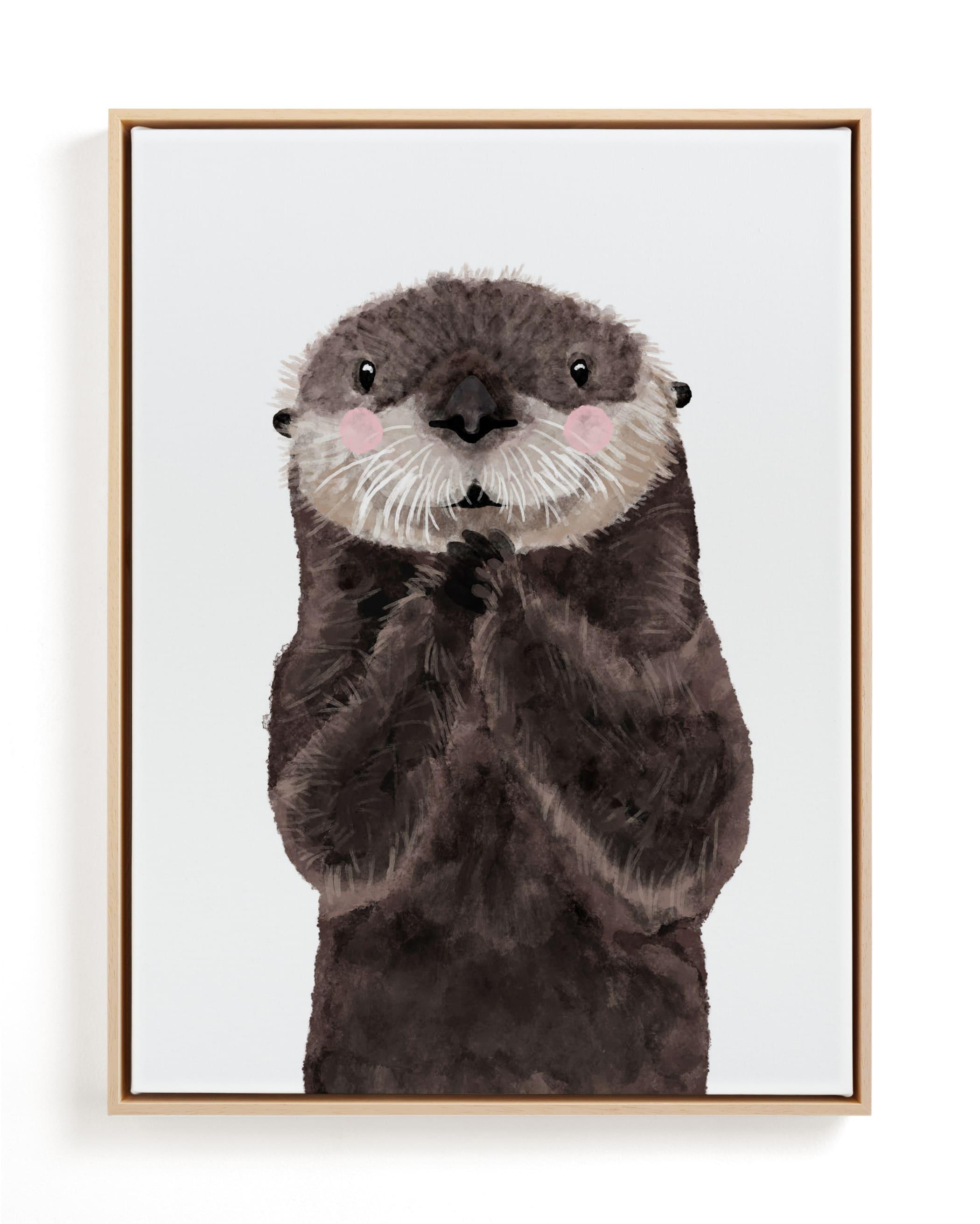 Baby Animal Sea Otter Children's Art Print